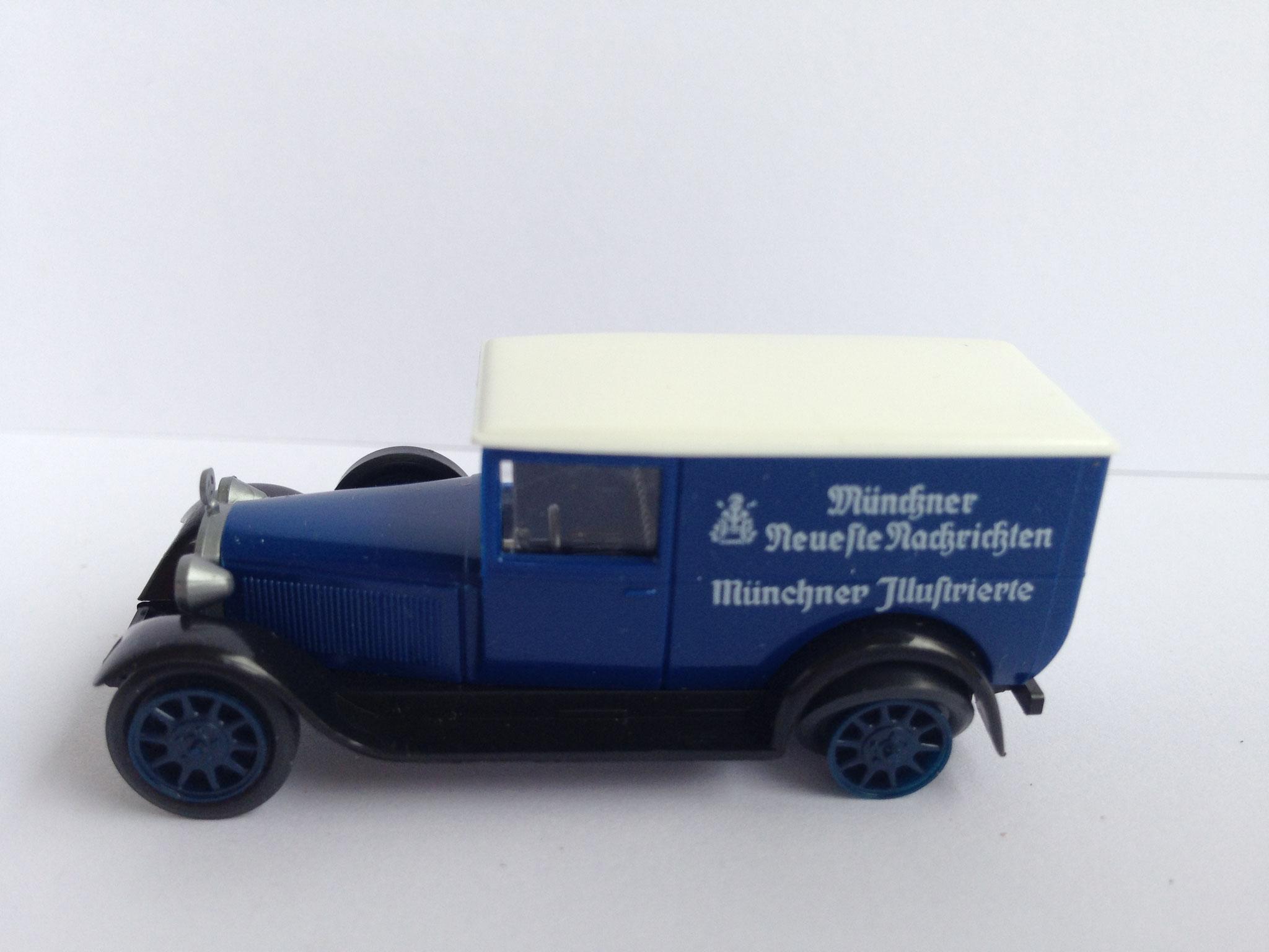 Mercedes L1000 Zeitungsauto Münchner Neuste Nachrichten, Art. Nr. 1048 (ab 1990 im Programm)