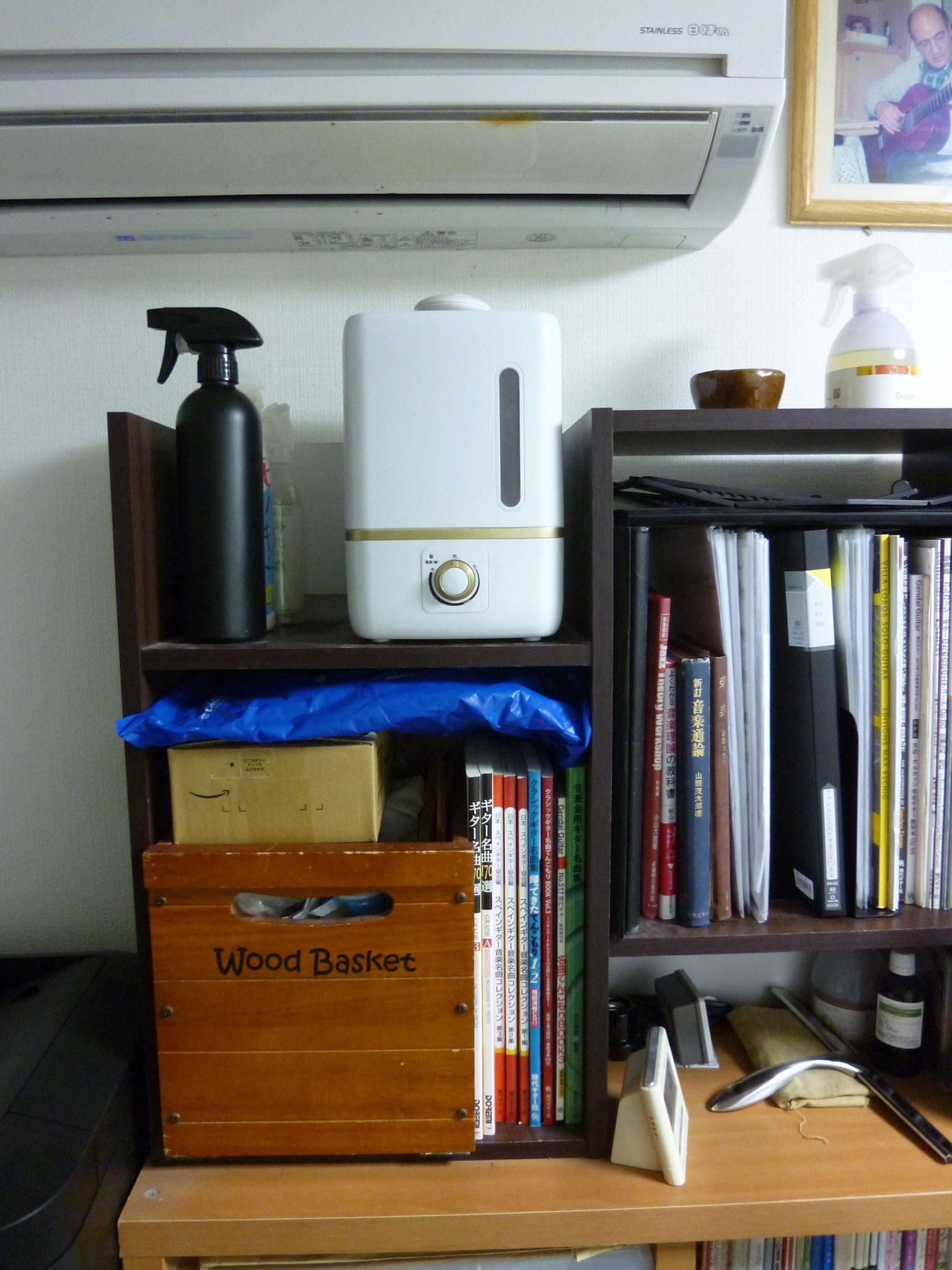 レッスン室/次亜塩素酸水加湿器