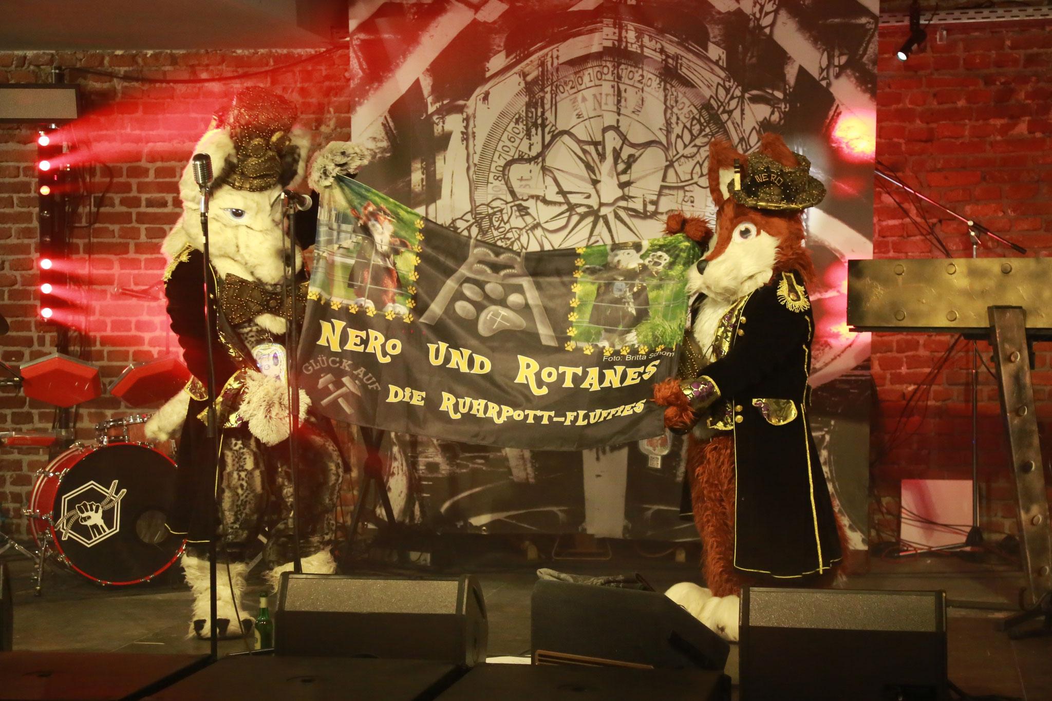 Auf der Bühne in der Rotunde Bochum