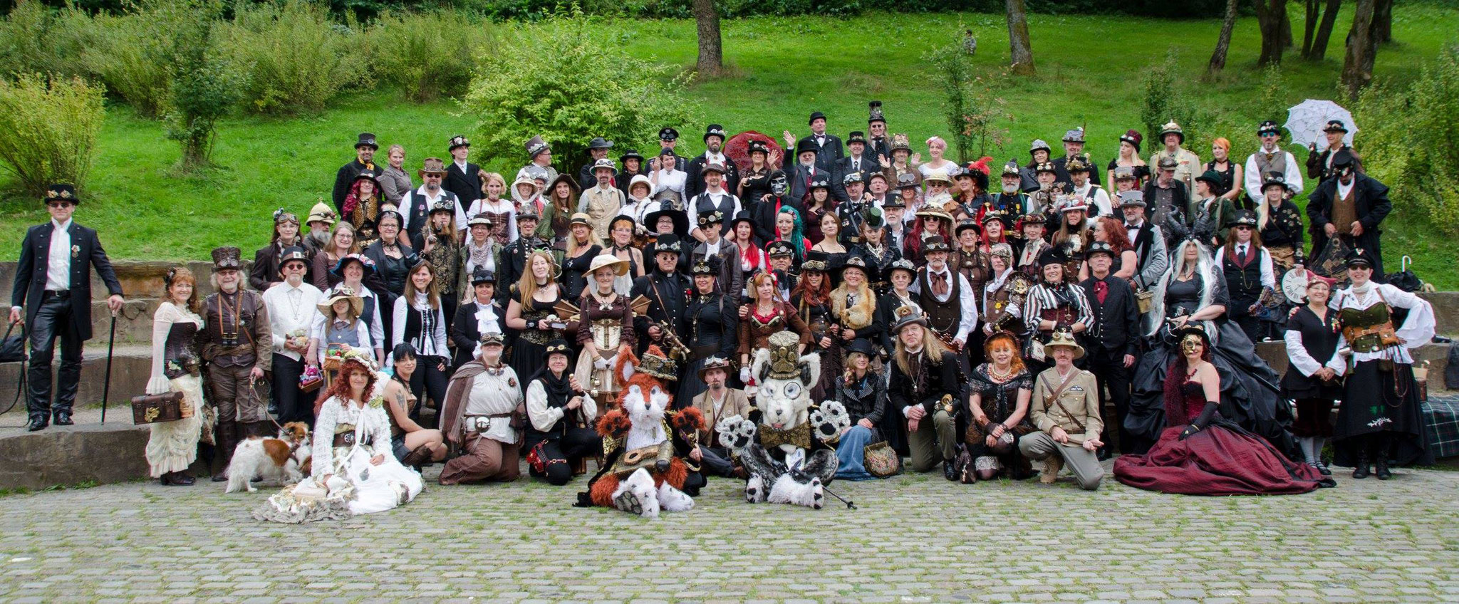 Steampunk Gruppenfoto Freilichtmuseum Hagen