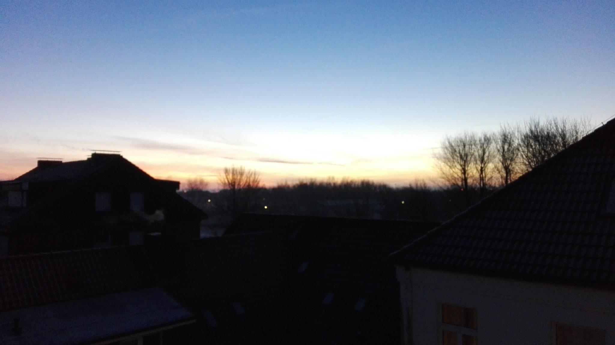 Ausblick aus dem Kursraum / Sonnenaufgang