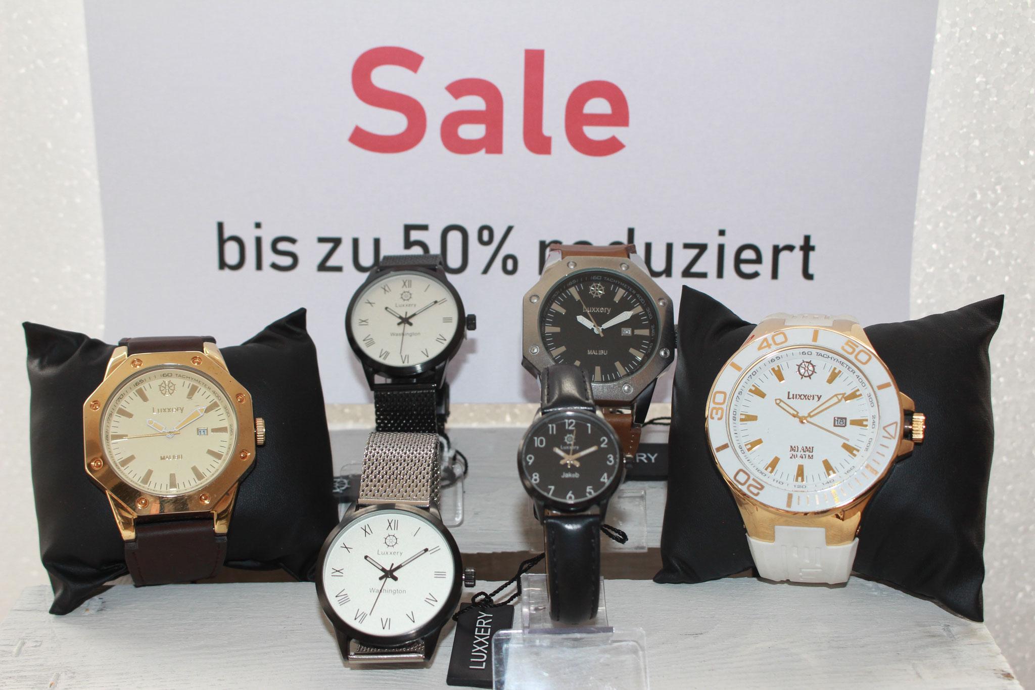 SALE - Uhren der Marke LUXXERY bis zu 50% reduziert
