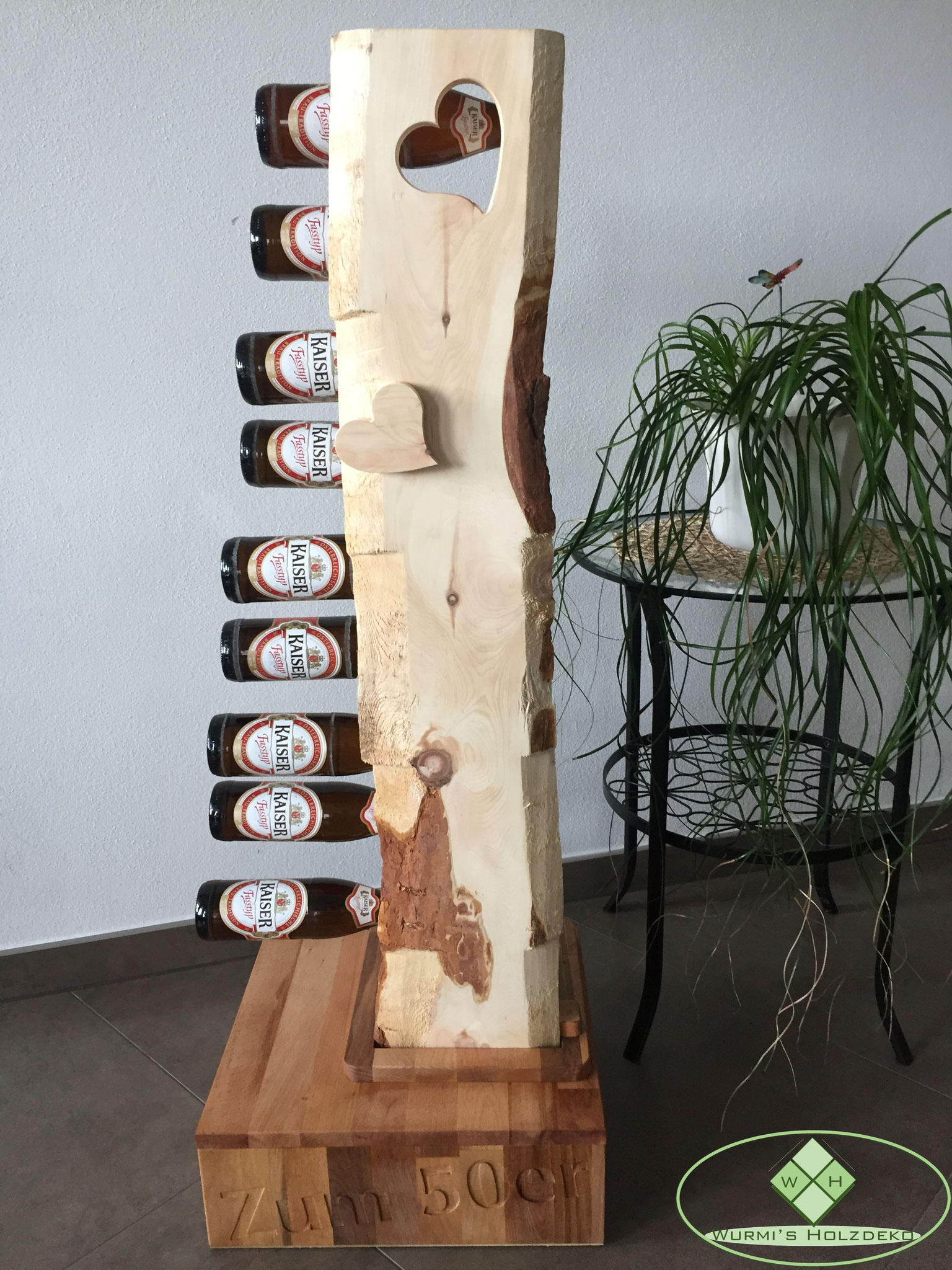 Zirben- Buchenholz Biersäule