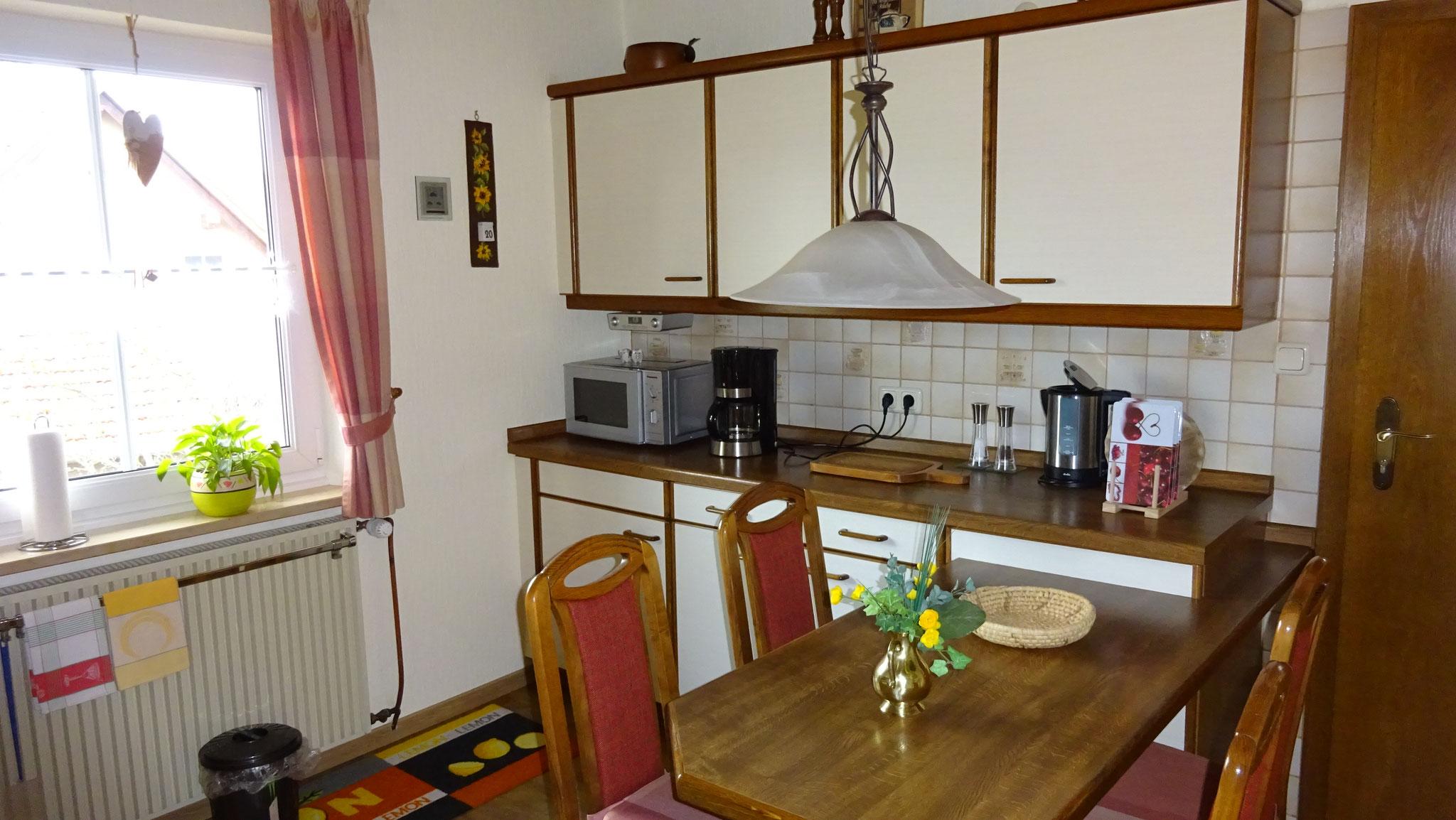 Küche mit allen Elektrogeräten
