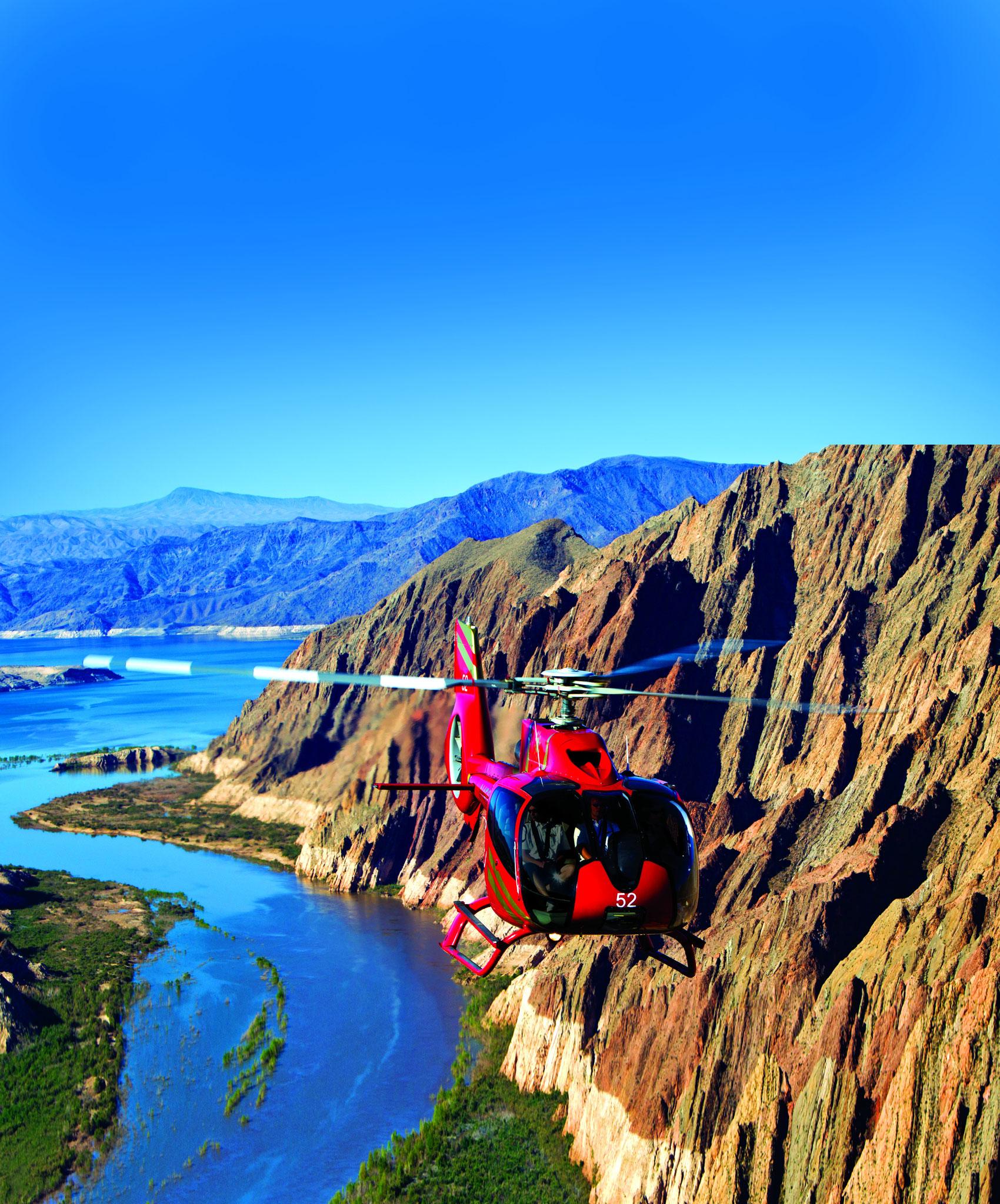 Luftaufnahme vom Helicopter im Grand Canyon