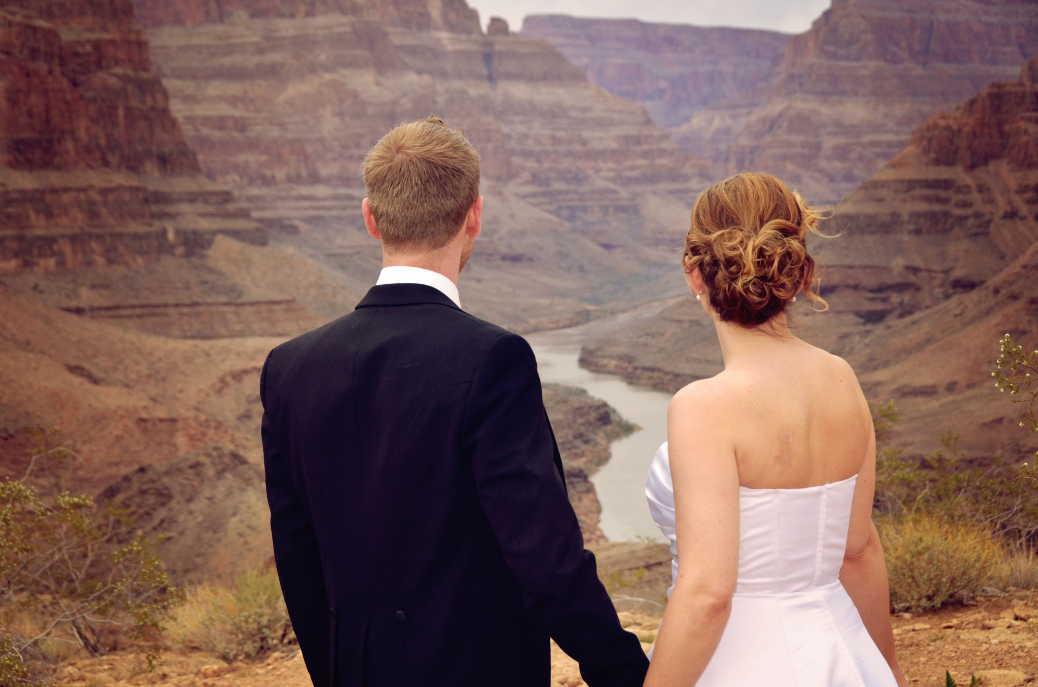 Die Ausicht bei der Hochzeit im Grand Canyon