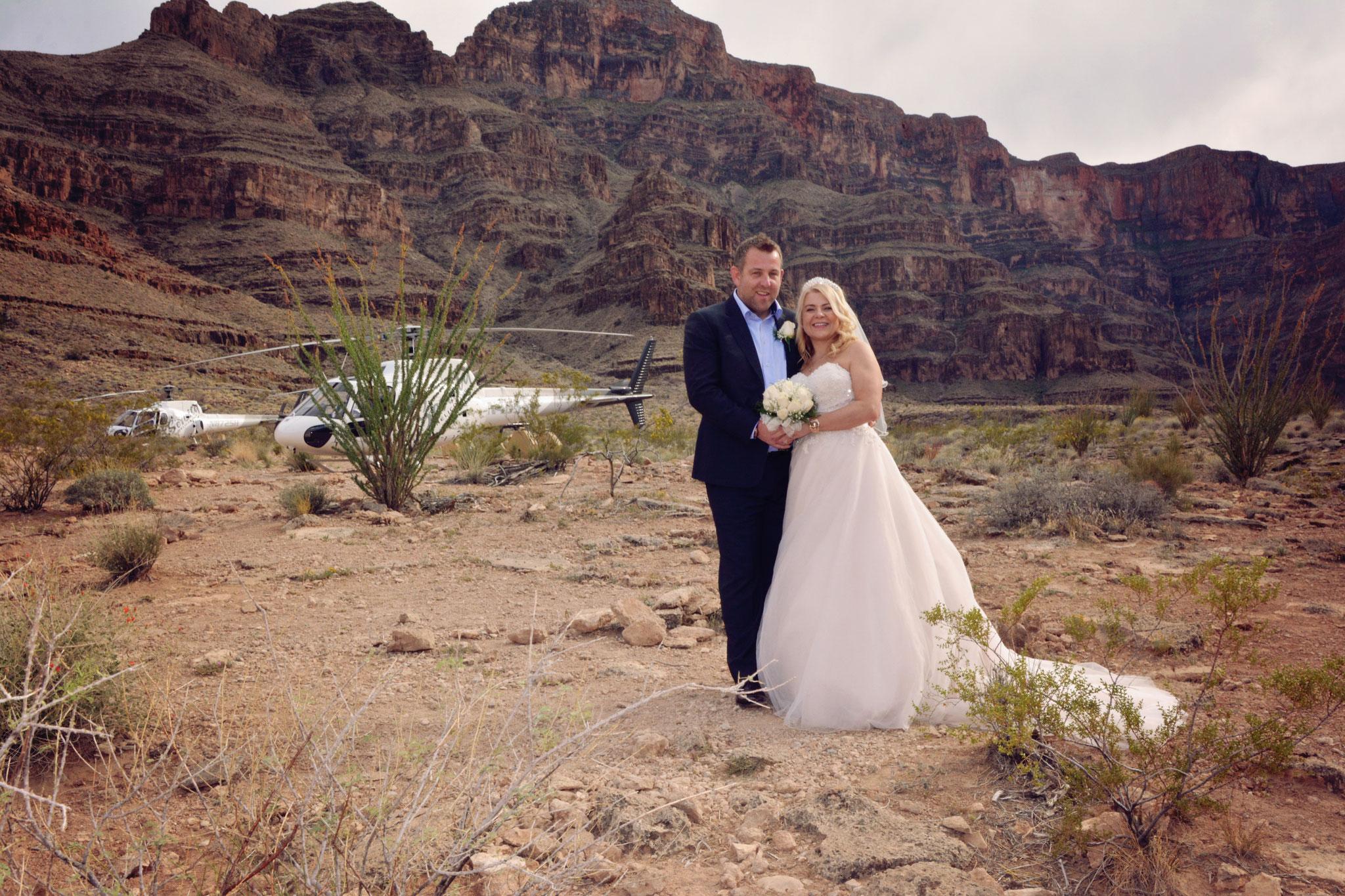 Brautpaar im Grand Canyon