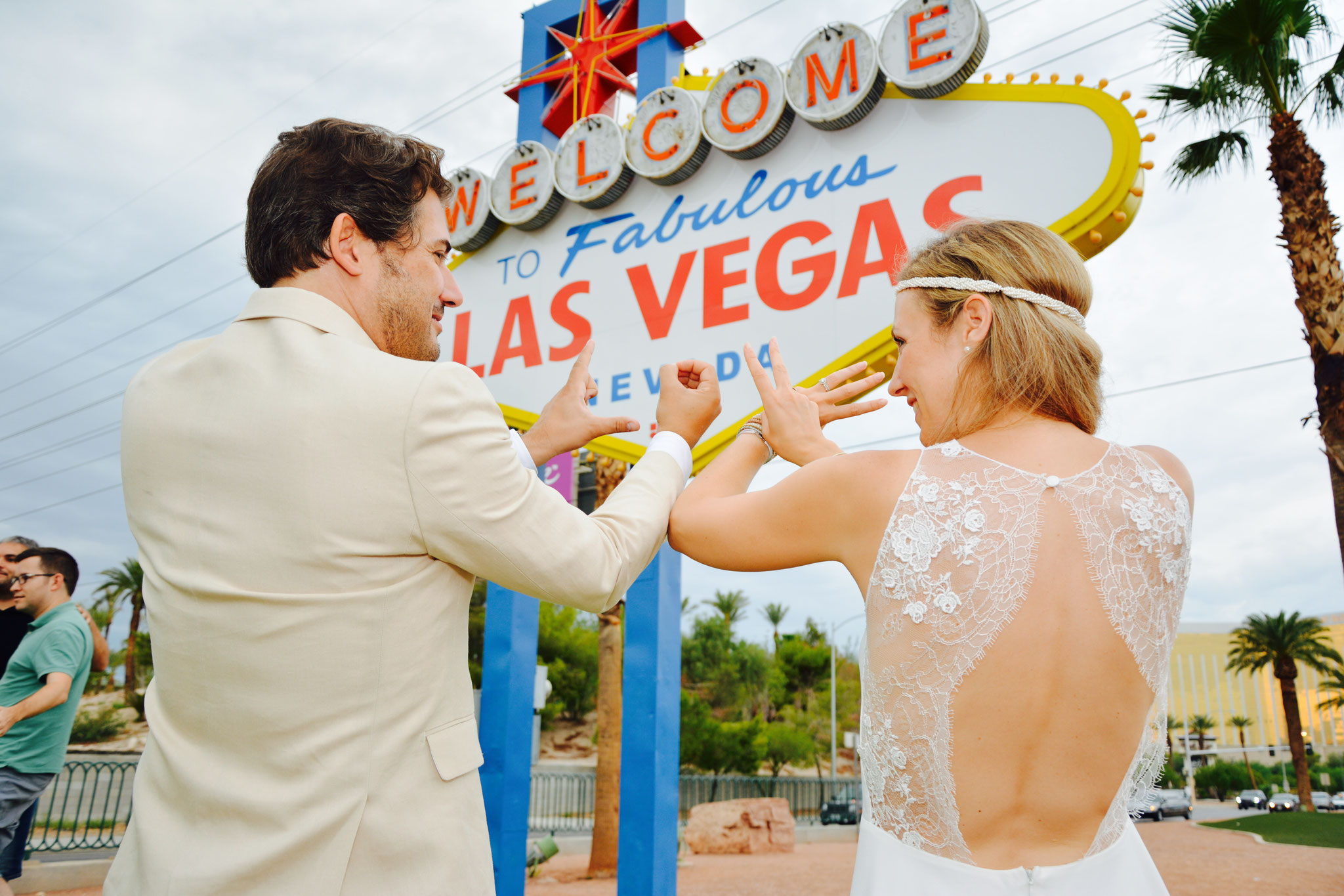 Fotoschooting am Welcome to Las Vegas Sign