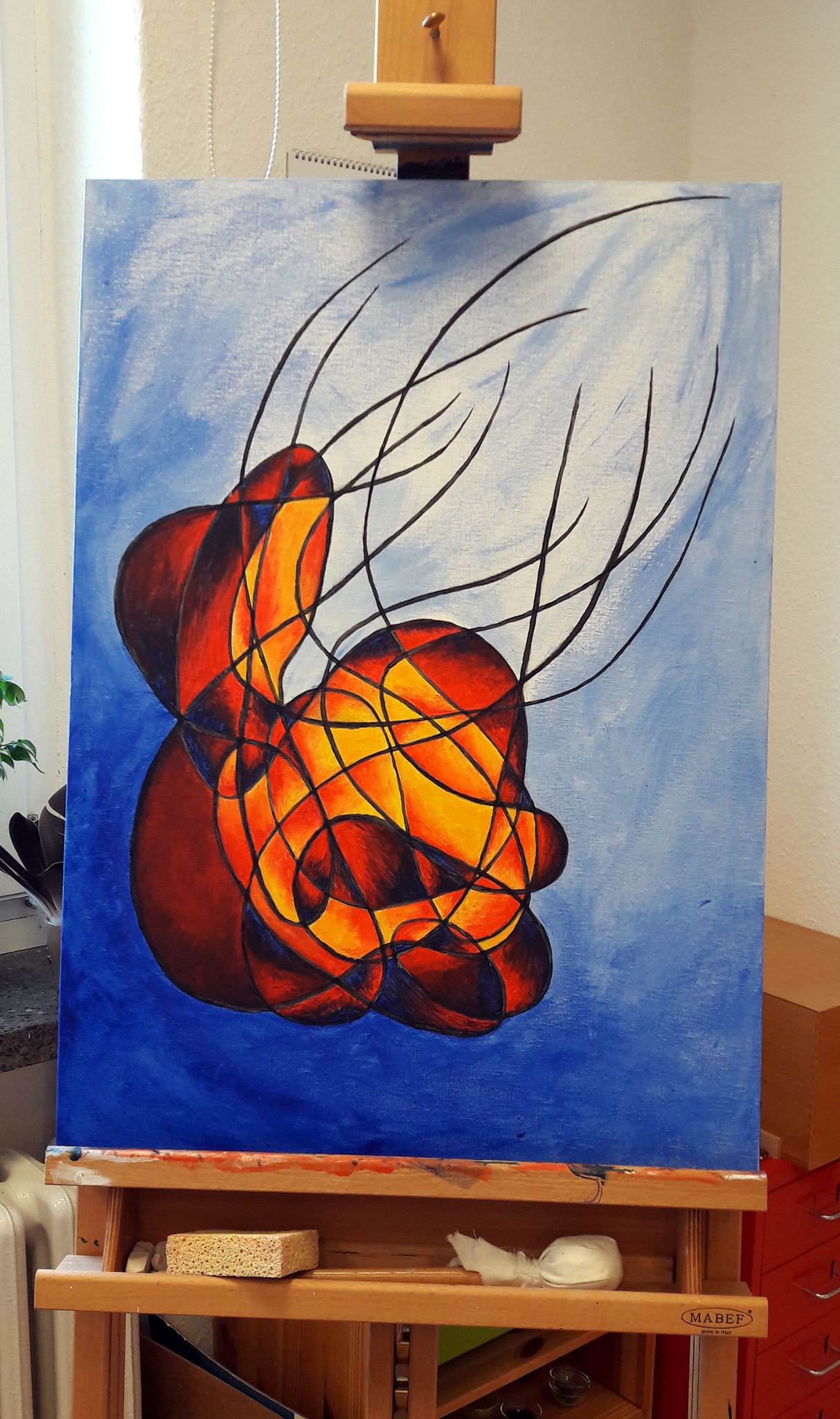 3. Acryl auf Leinwand, 70x50, gerahmt, 200€