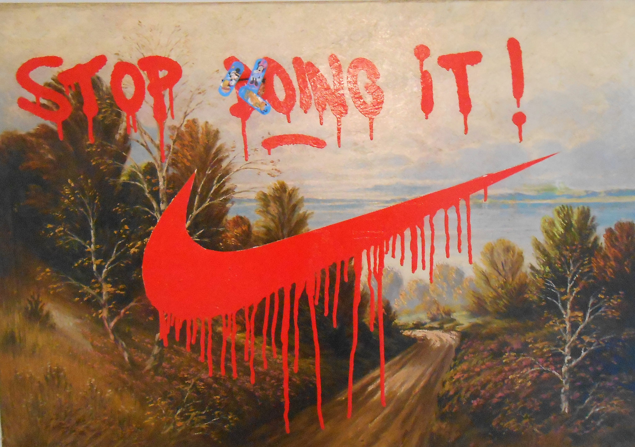 Felix Pensel /  Stop...  /  80 x 100 cm    1200, EUR