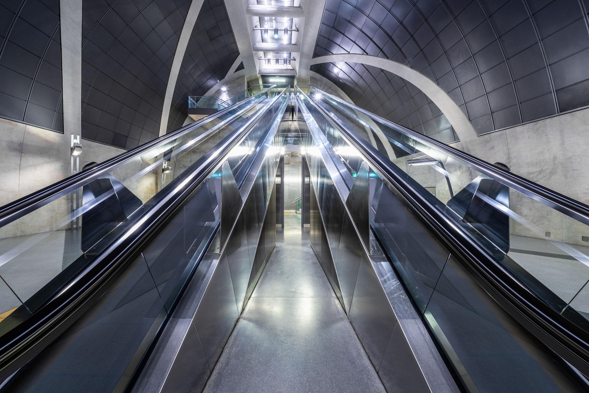 Architektur Fotografie im U Bahnhof Heumarkt Köln