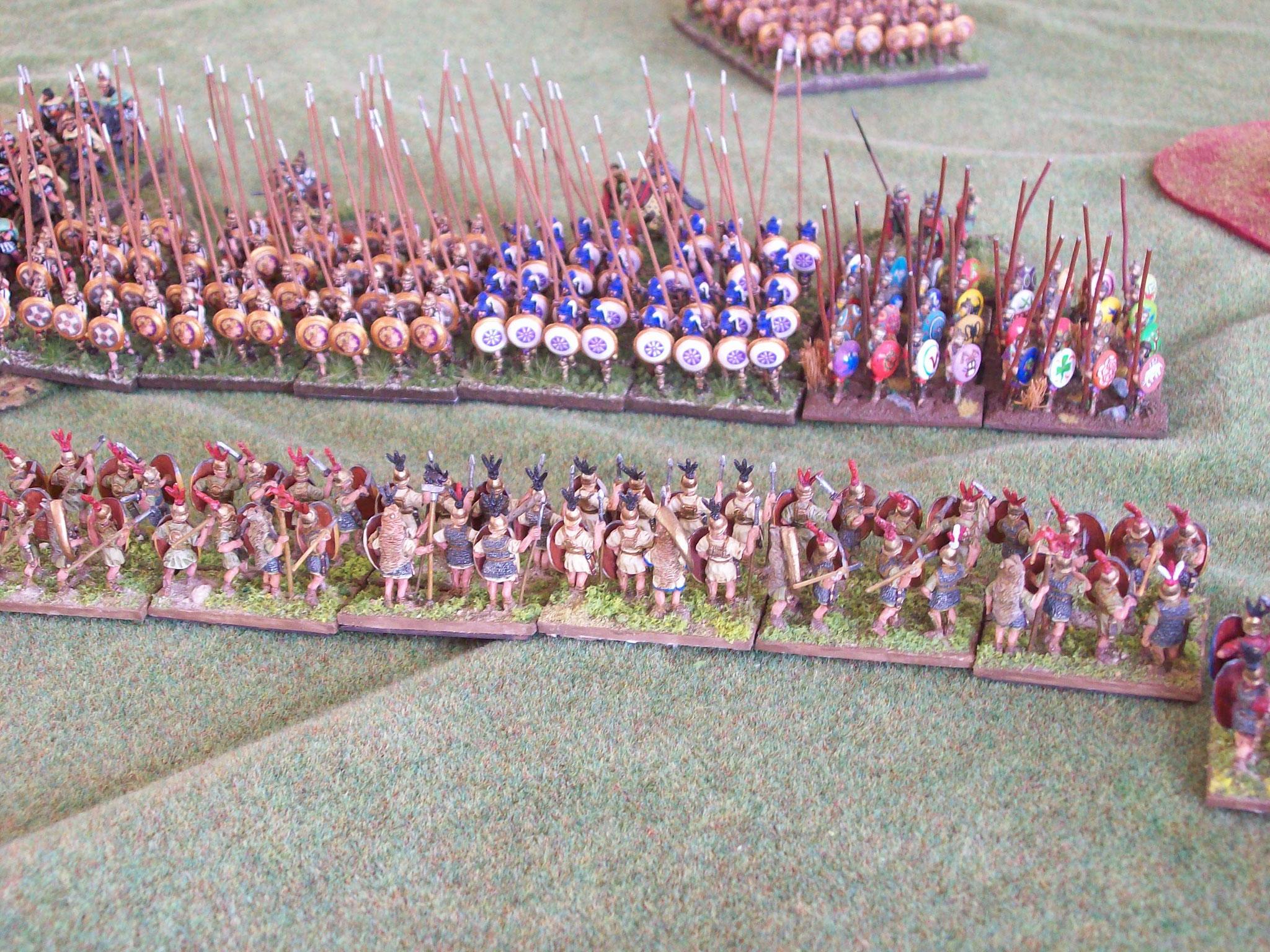 Eine typische Szene: Römer gegen Piken