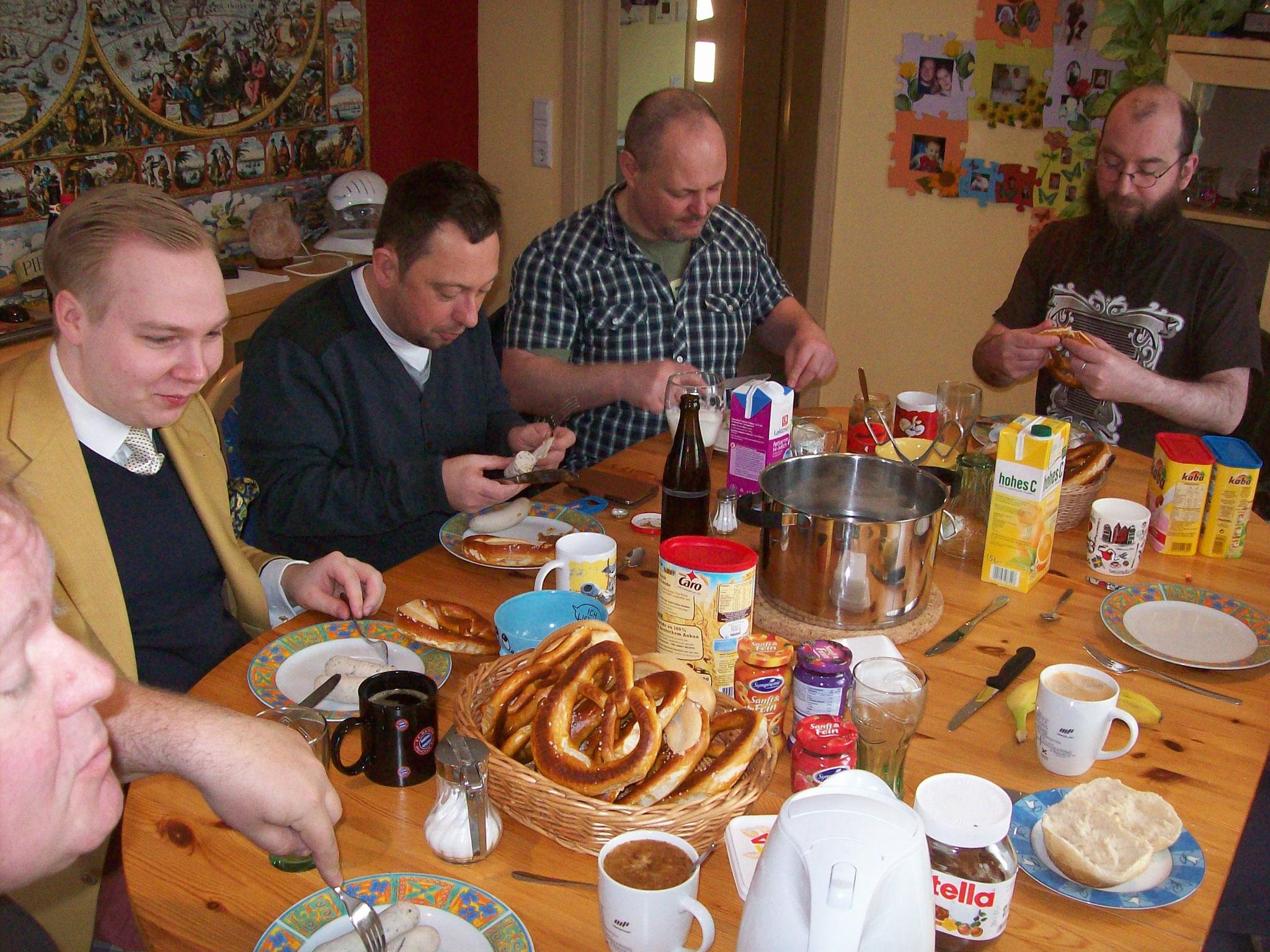 Weißwurstfrühstück am Sonntag - wer's mag ;)