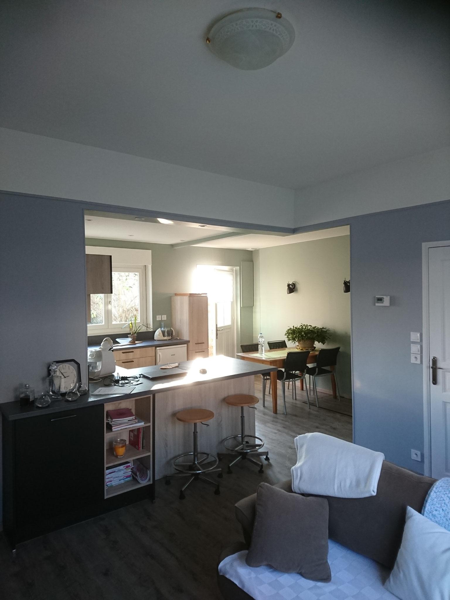 Suppression de mur porteur et réalisation d'une cuisine