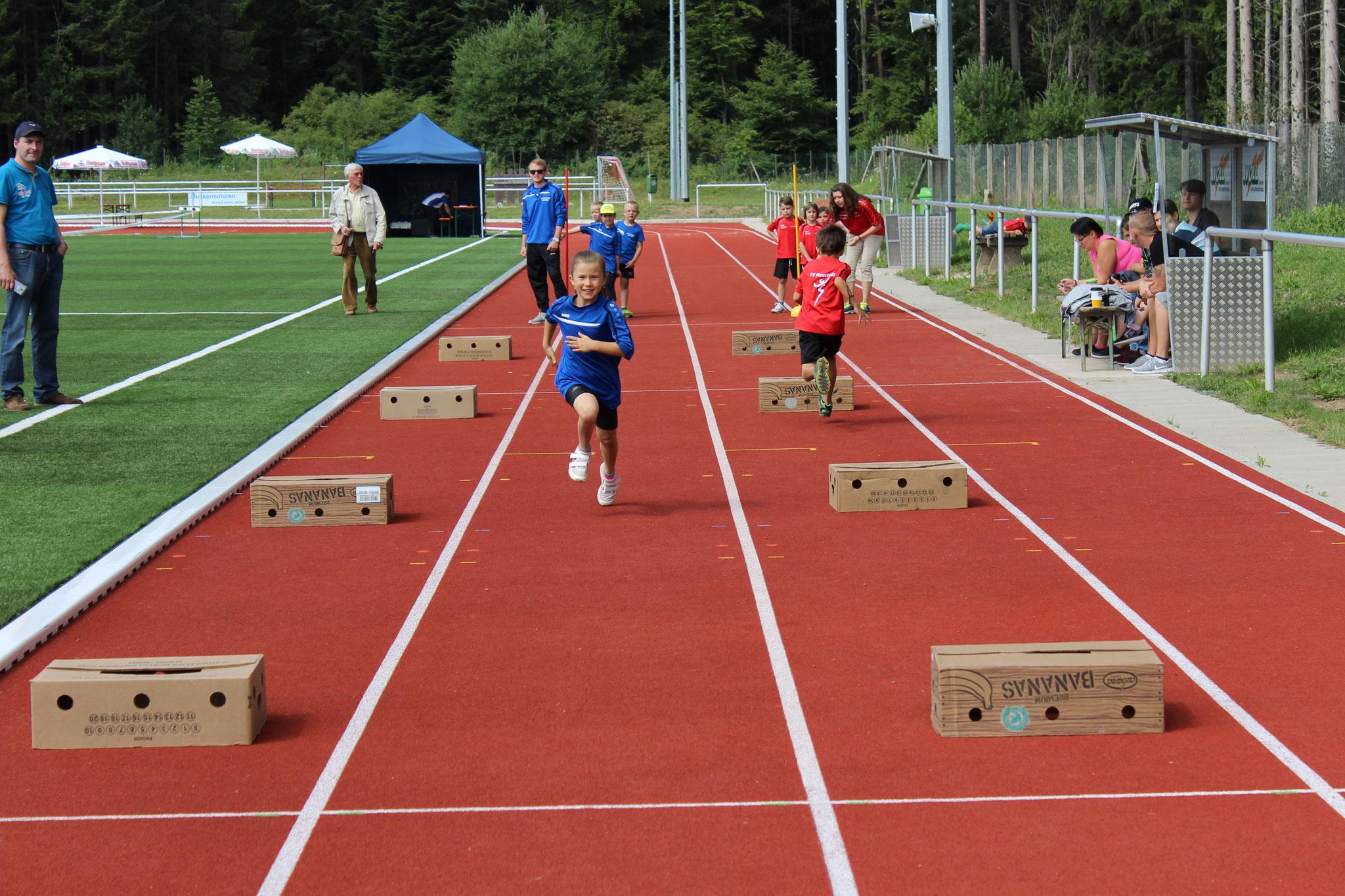 Nicola beim Sprint!