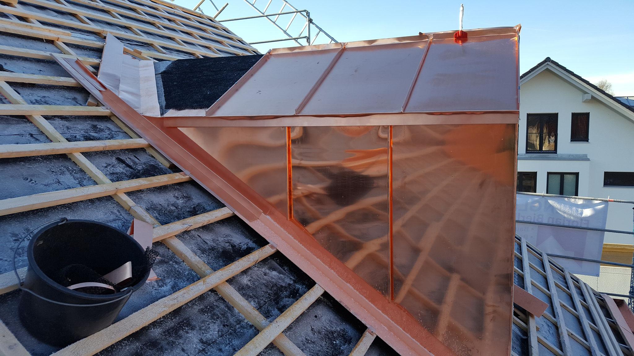 Dachgaubenverblechung aus Kupfer