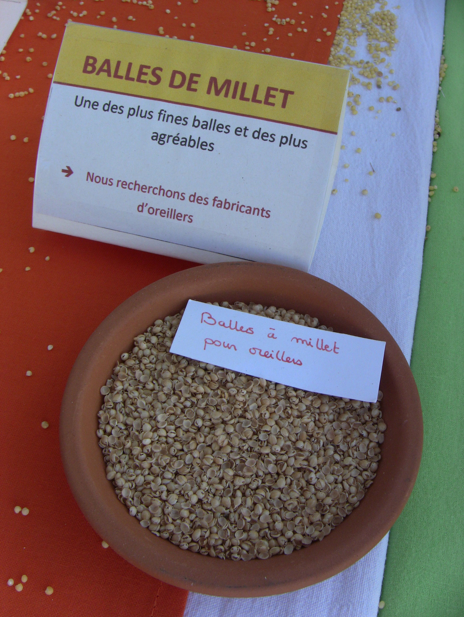 Balles de millet pour coussins