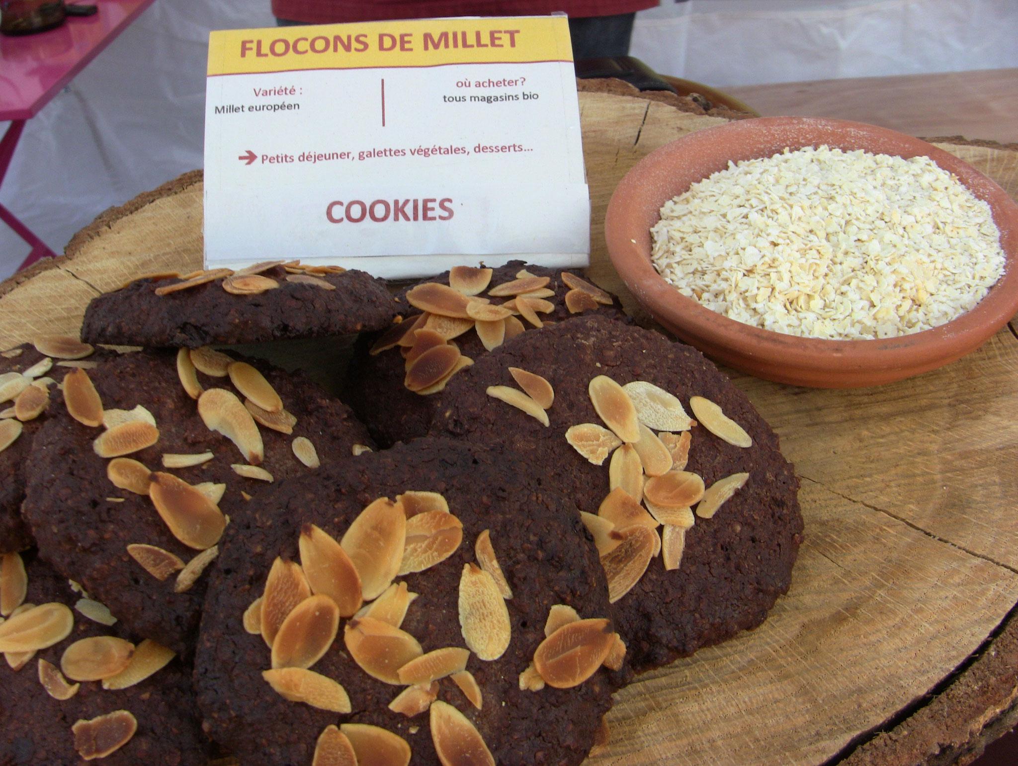 Cookies aux flocons de millet