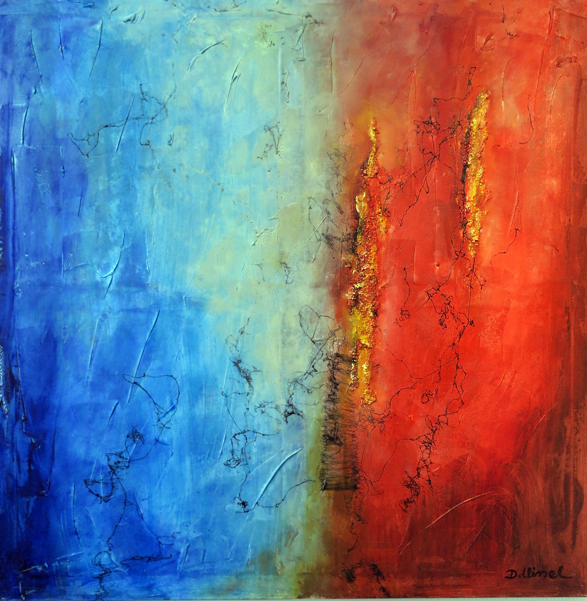 Rot-Blau 2 100 x 100 cm
