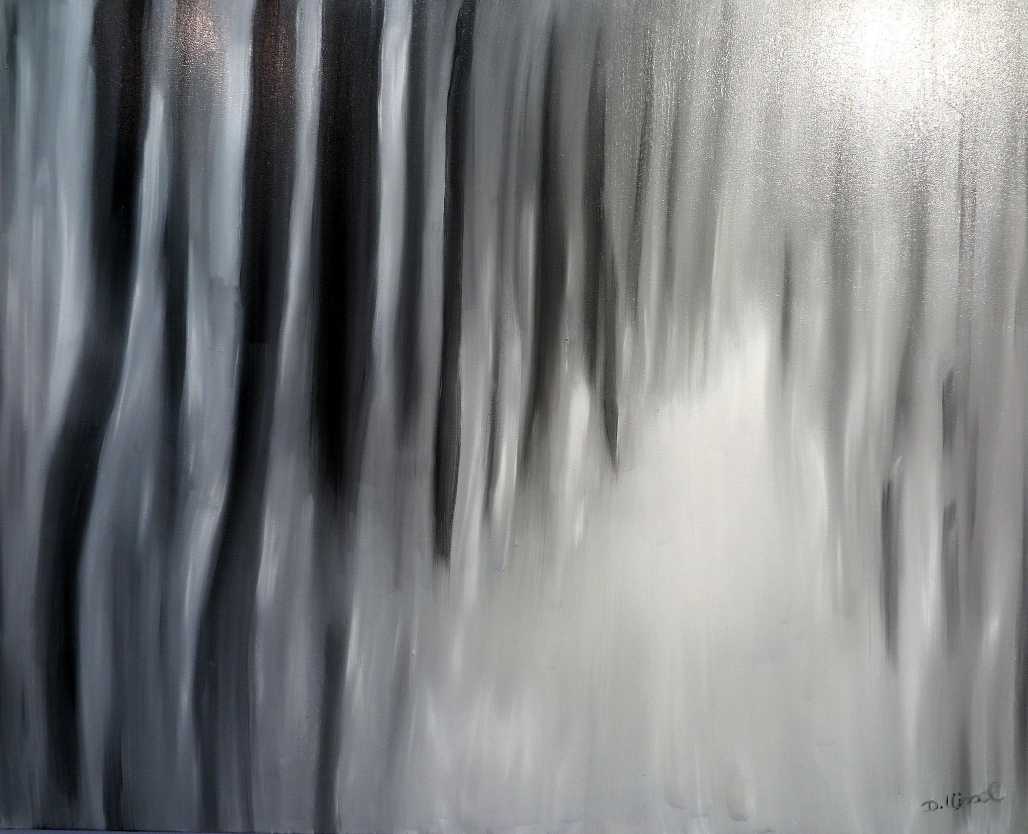 Lichtallee -nach einem Foto von Gottfried Römer - 80 x 100 cm