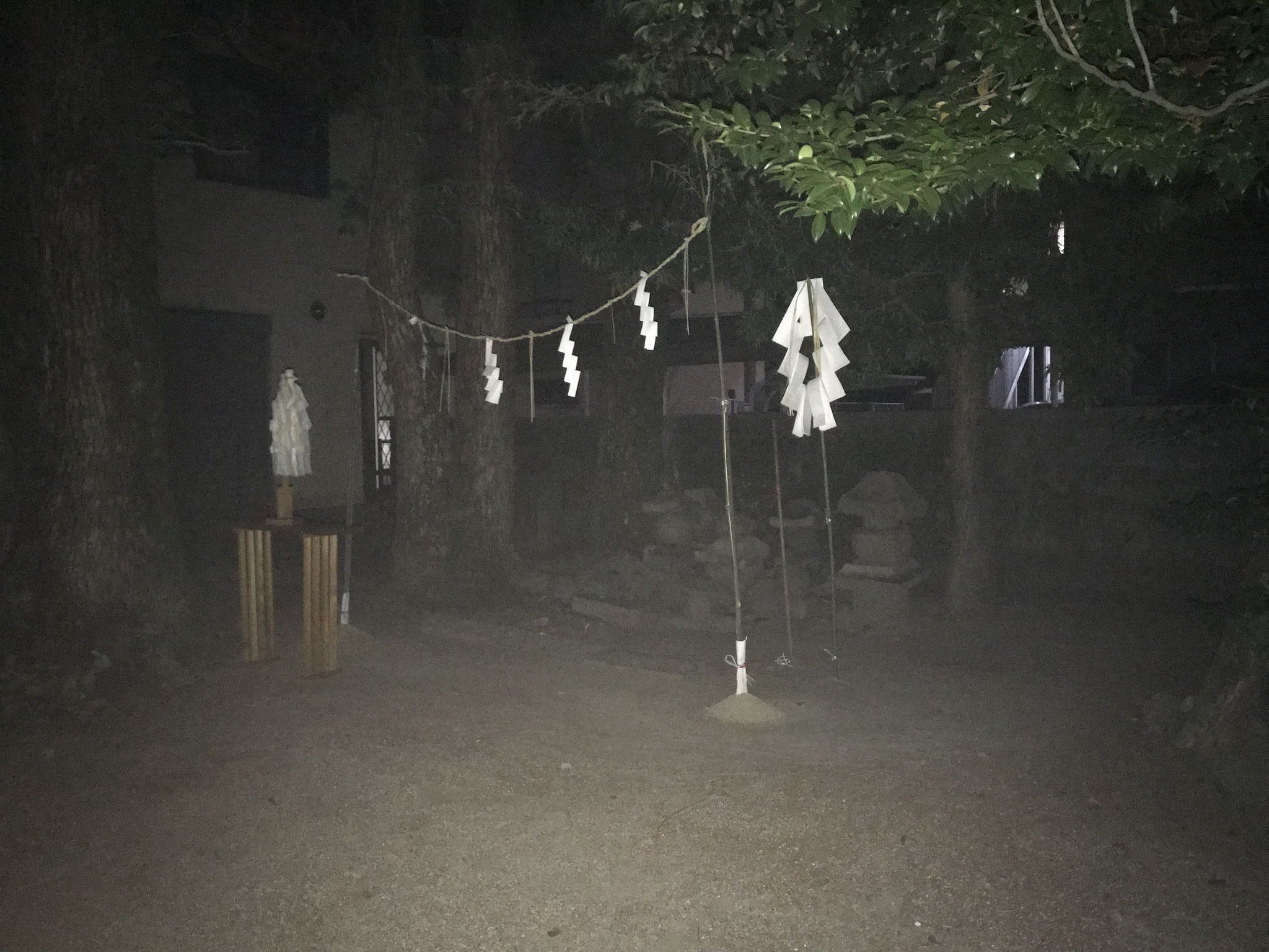 野神神事の祭場