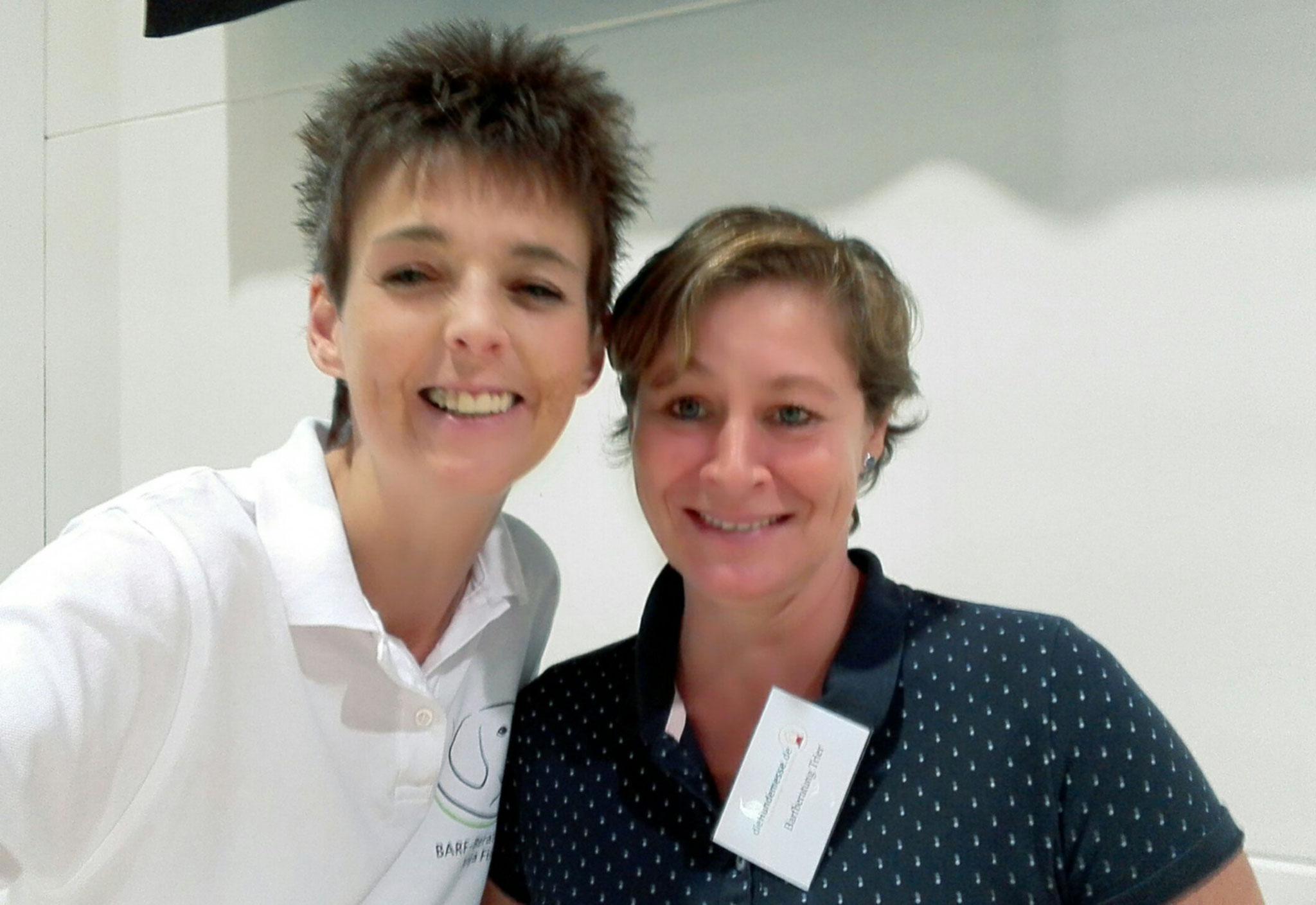 Meine liebe Kollegin Andrea Franz hat mich am Infostand unterstützt!