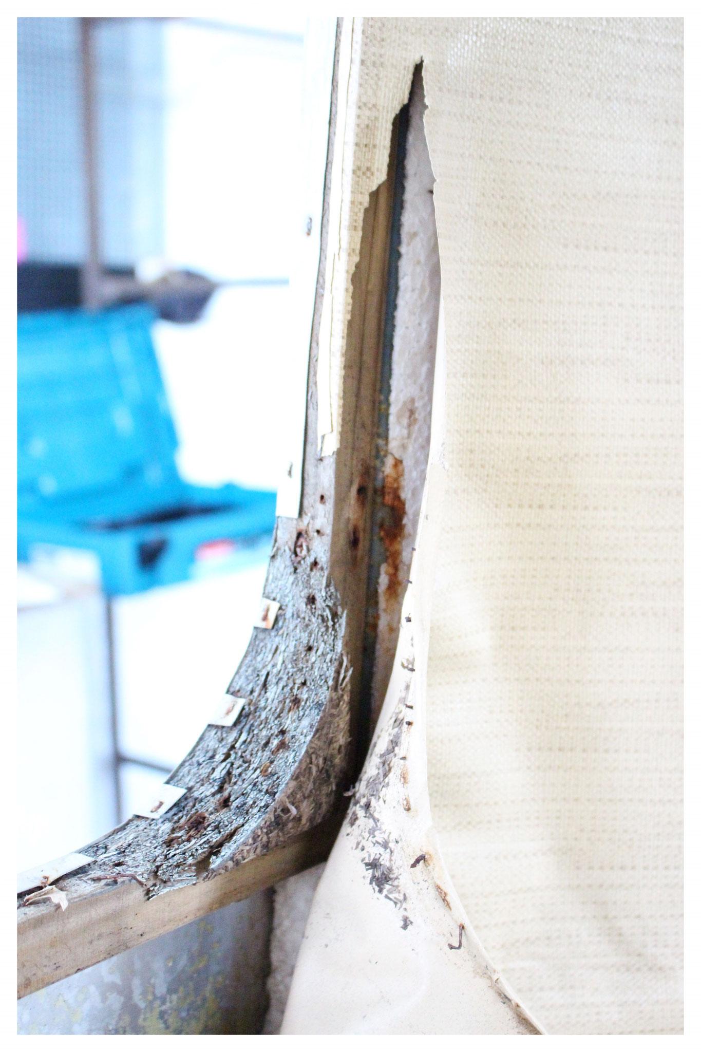 Holzrahmen für Fensterhalterung