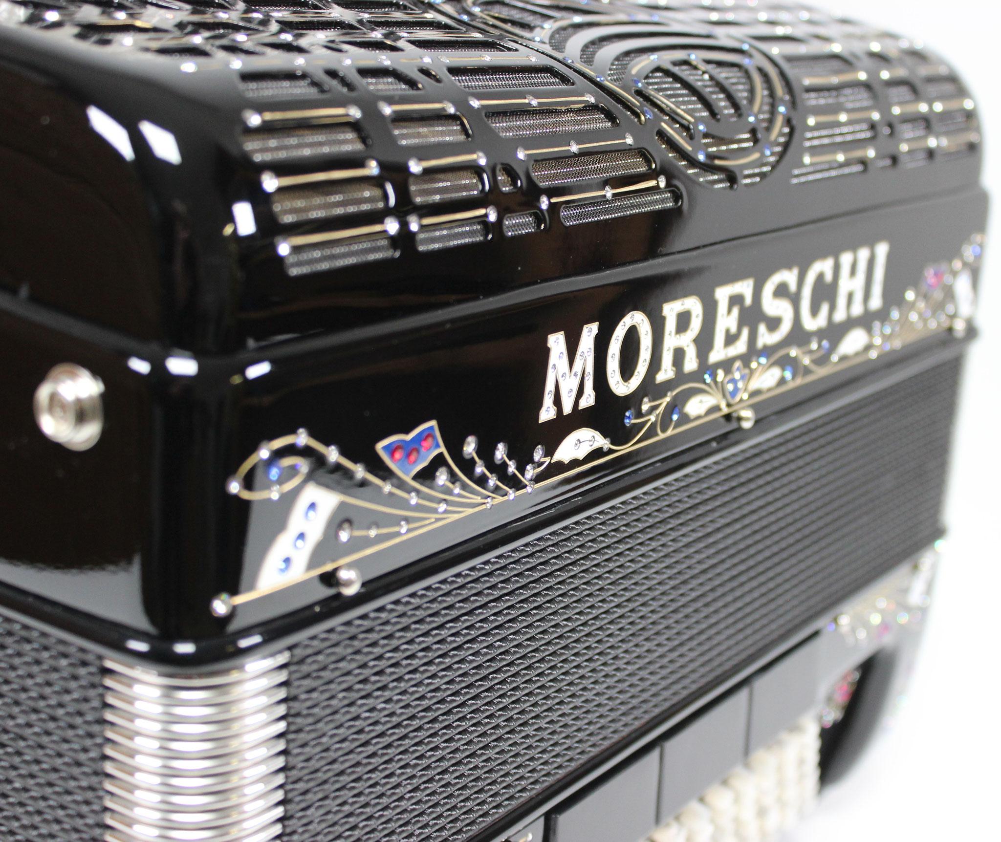 Moreschi Agile 34 IV 96 M, schwarz Strass