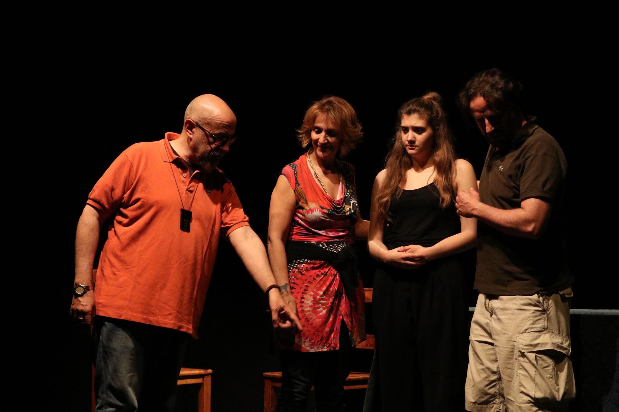 """Maggio 2017 durante le prove de """"Il Tartufo"""" di Molière"""