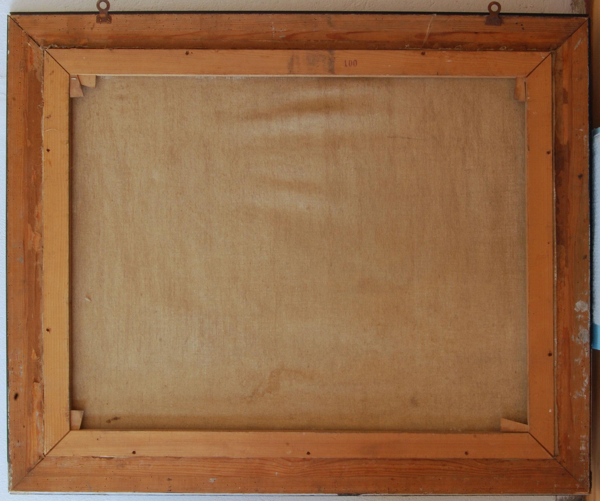 Rückseite des Gemäldes