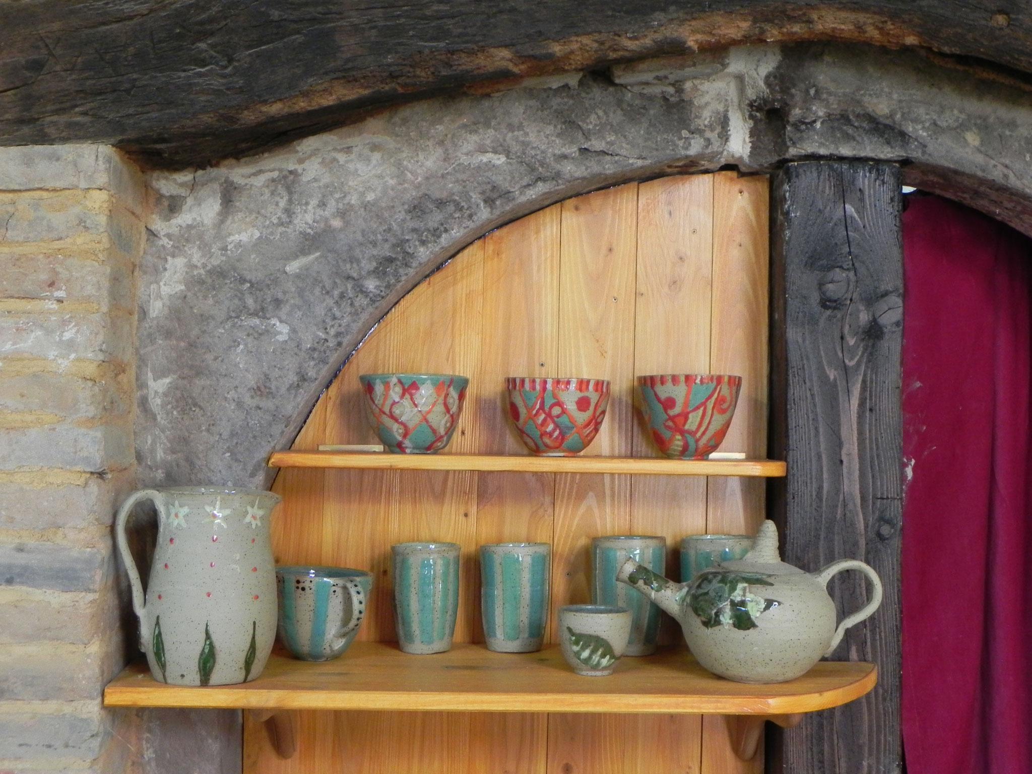 Teekanne, Krug, Kaffeeschalen, Bols, Teeschalen, Müslischalen, Becher