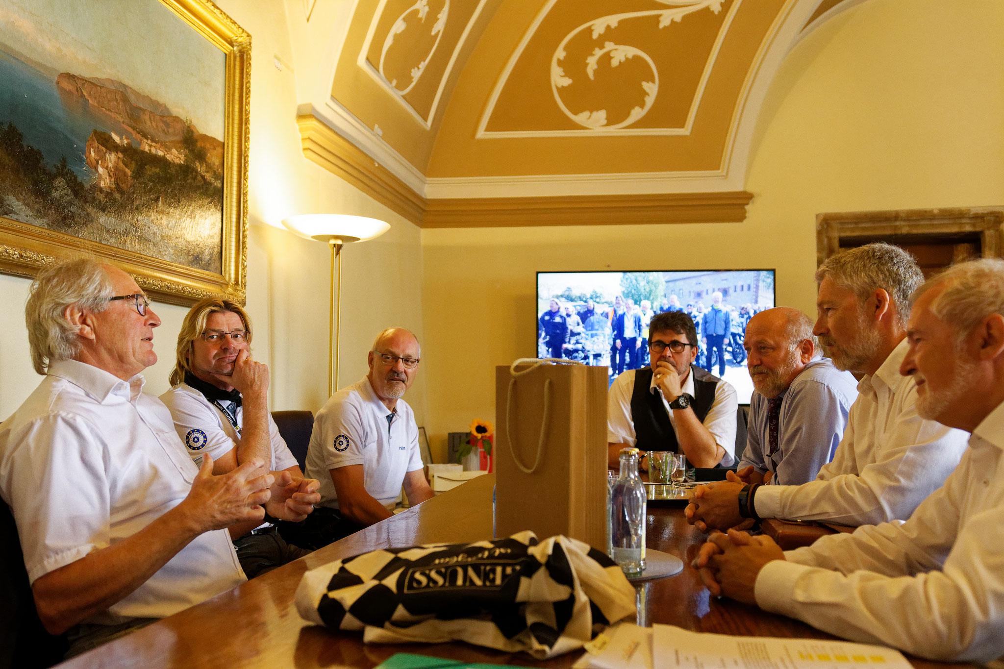 mit unseren Motorradfreunden aus Görlitz