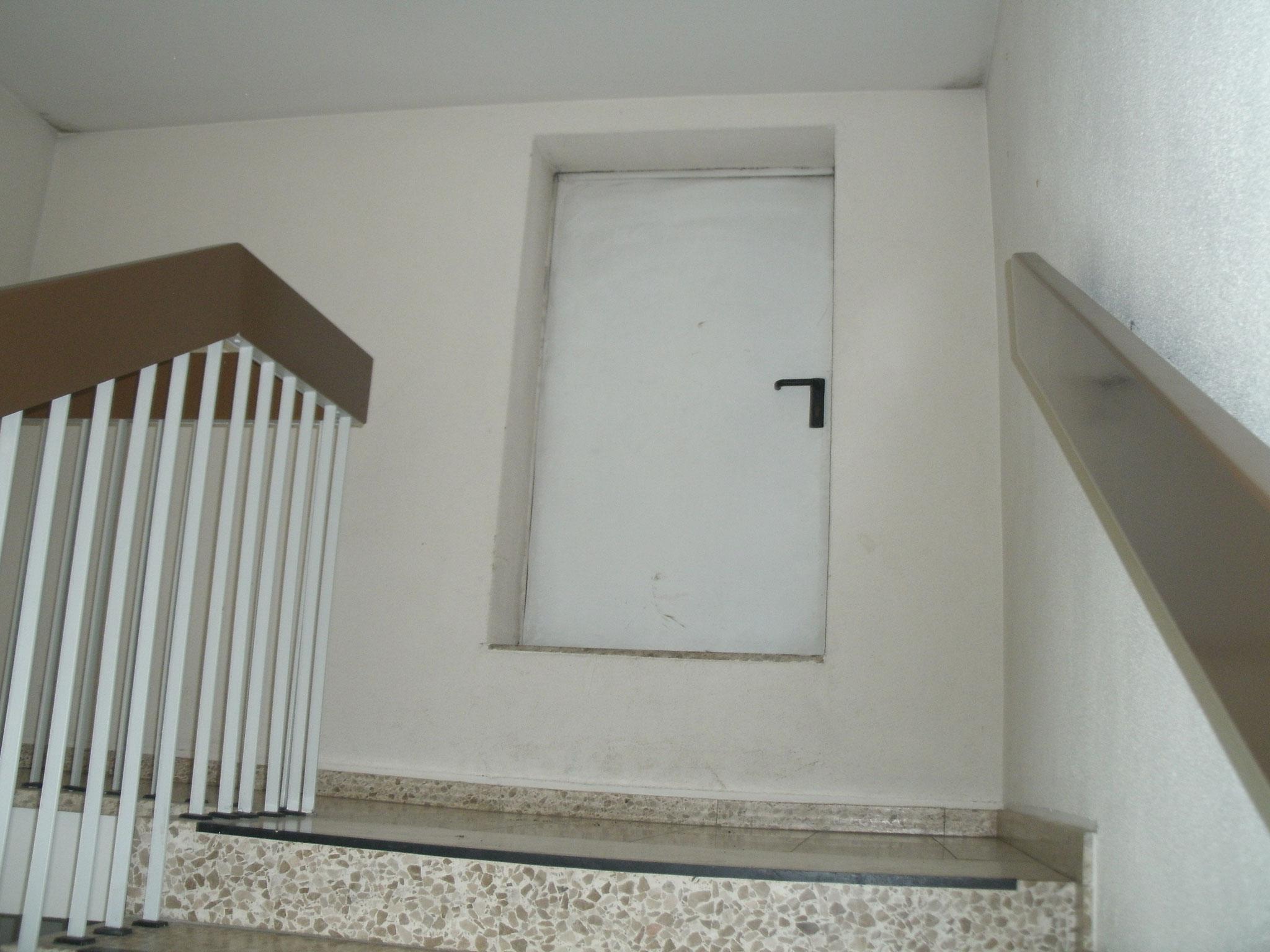 Die Tür zum Dach.