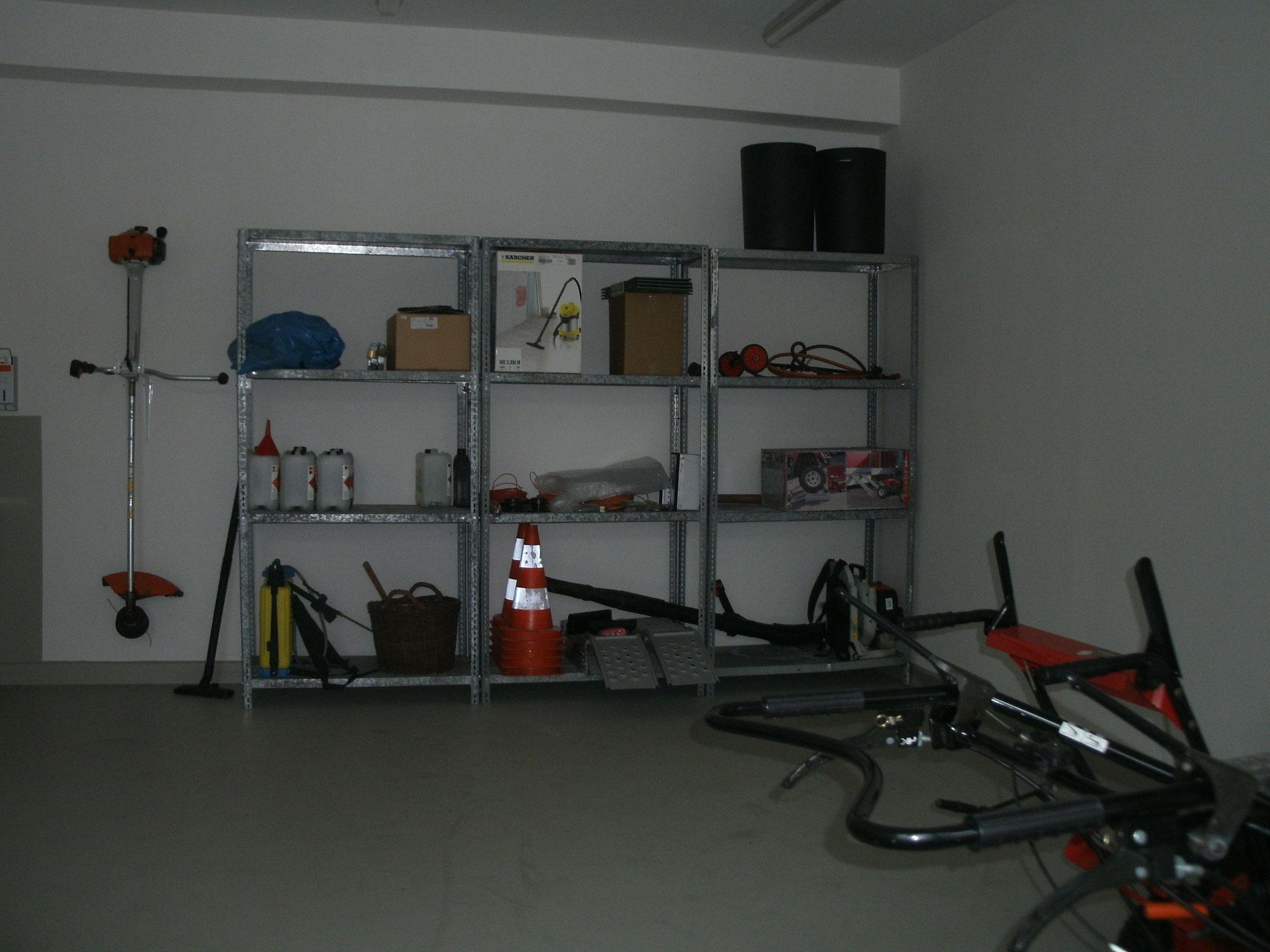 ...heute Werkstatt und Abstellraum.