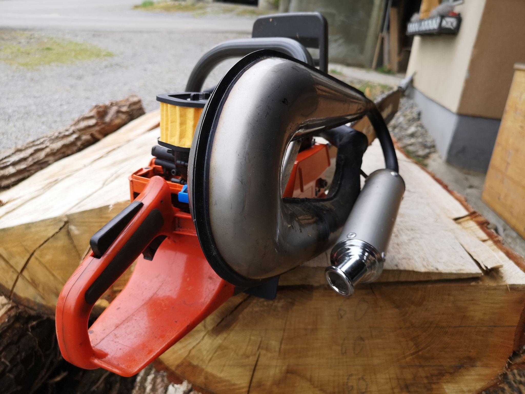 Meine grösste Säge für Stämme  ab 90cm Durchmesser zu bearbeiten