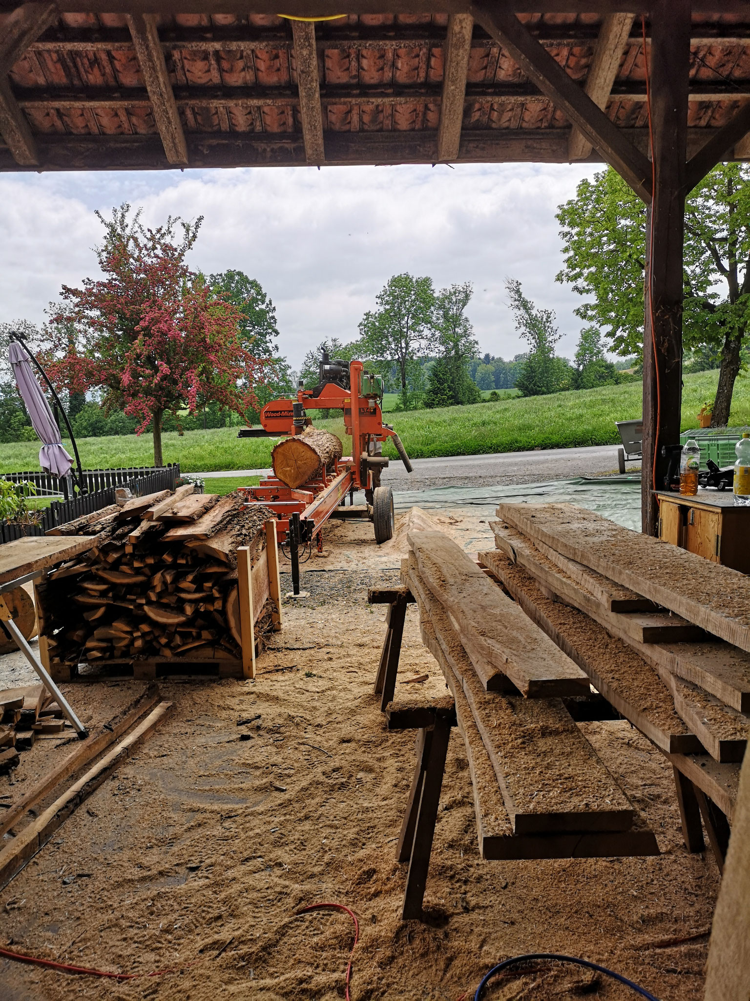 Wood-mizer Bretterzuschnitt