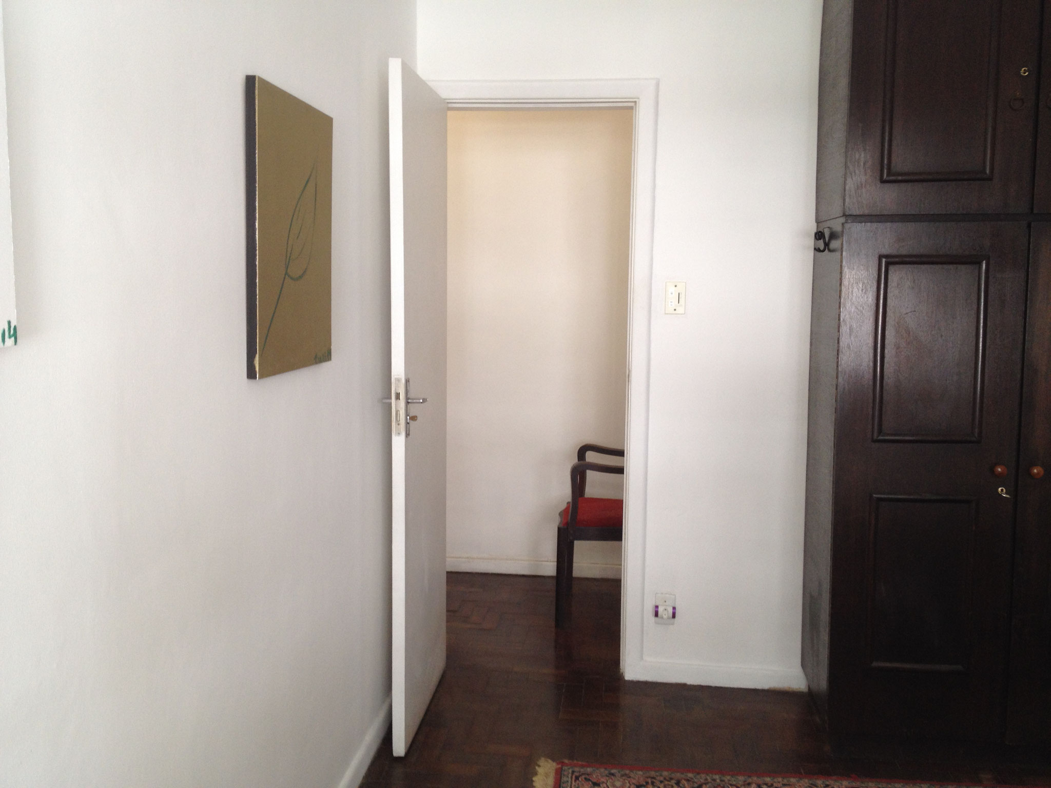 Tür im zweiten Schlafzimmer