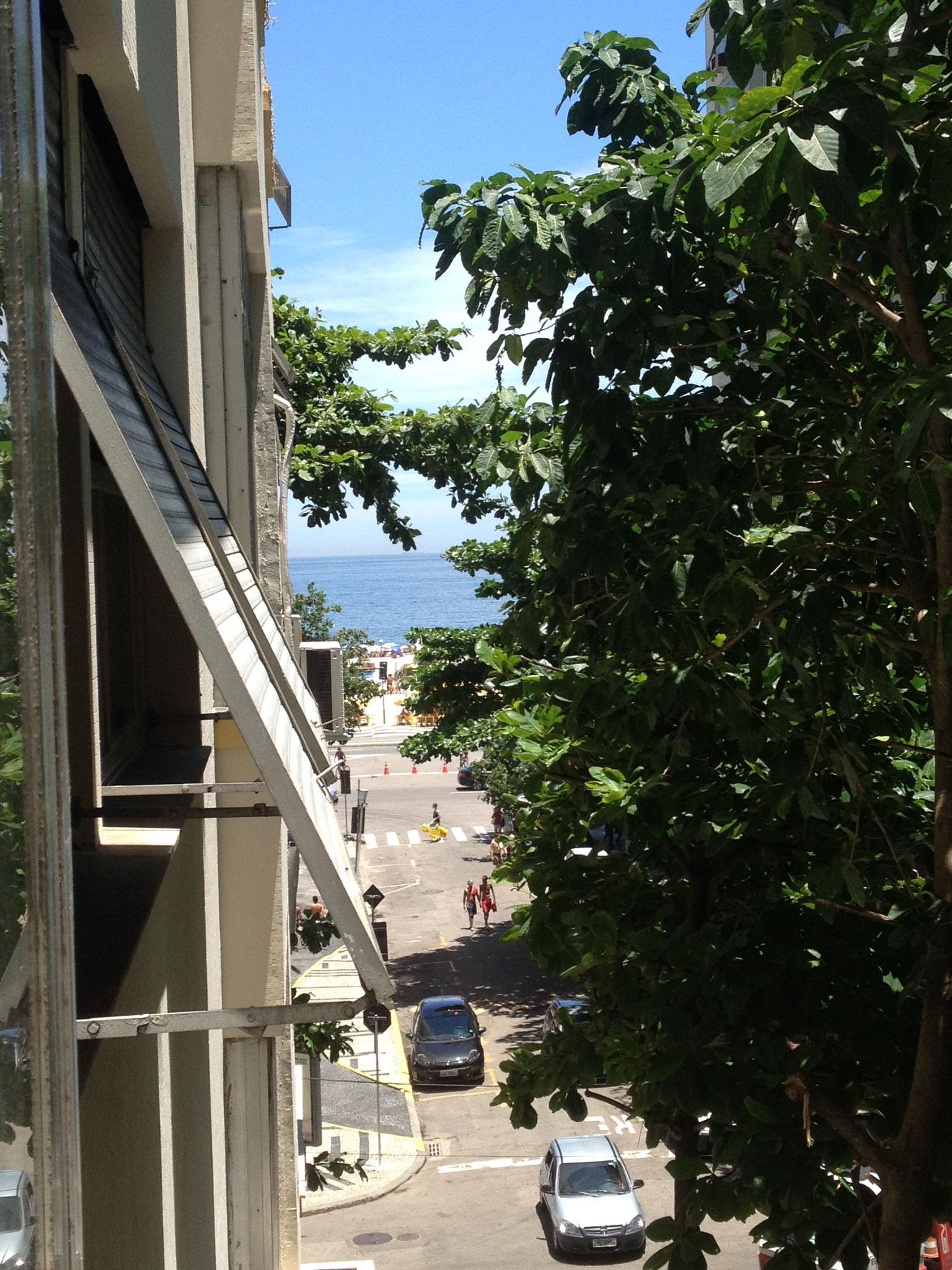 Blick aus dem ersten Schlafzimmerfenster