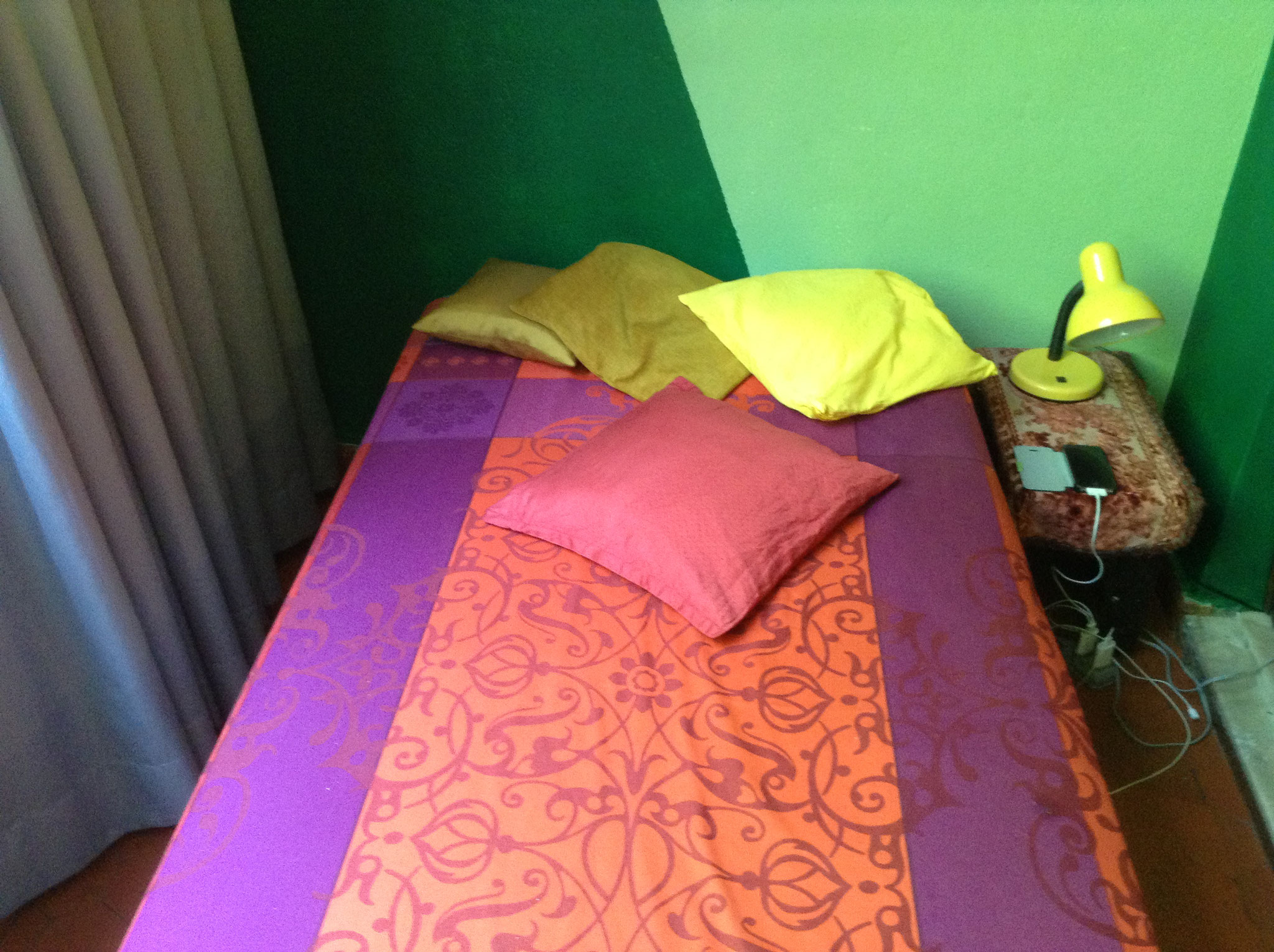 Bett im Wintergarten