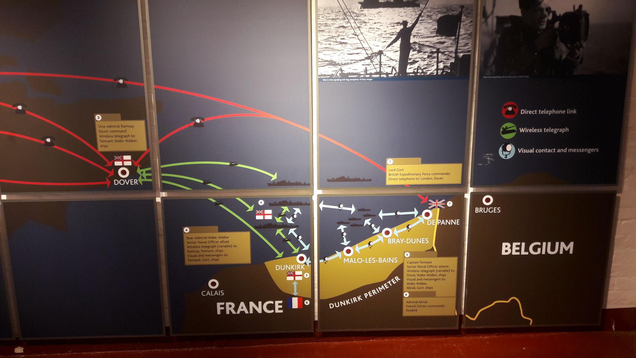 Karte des Einsatzes im 2. Weltkrieg