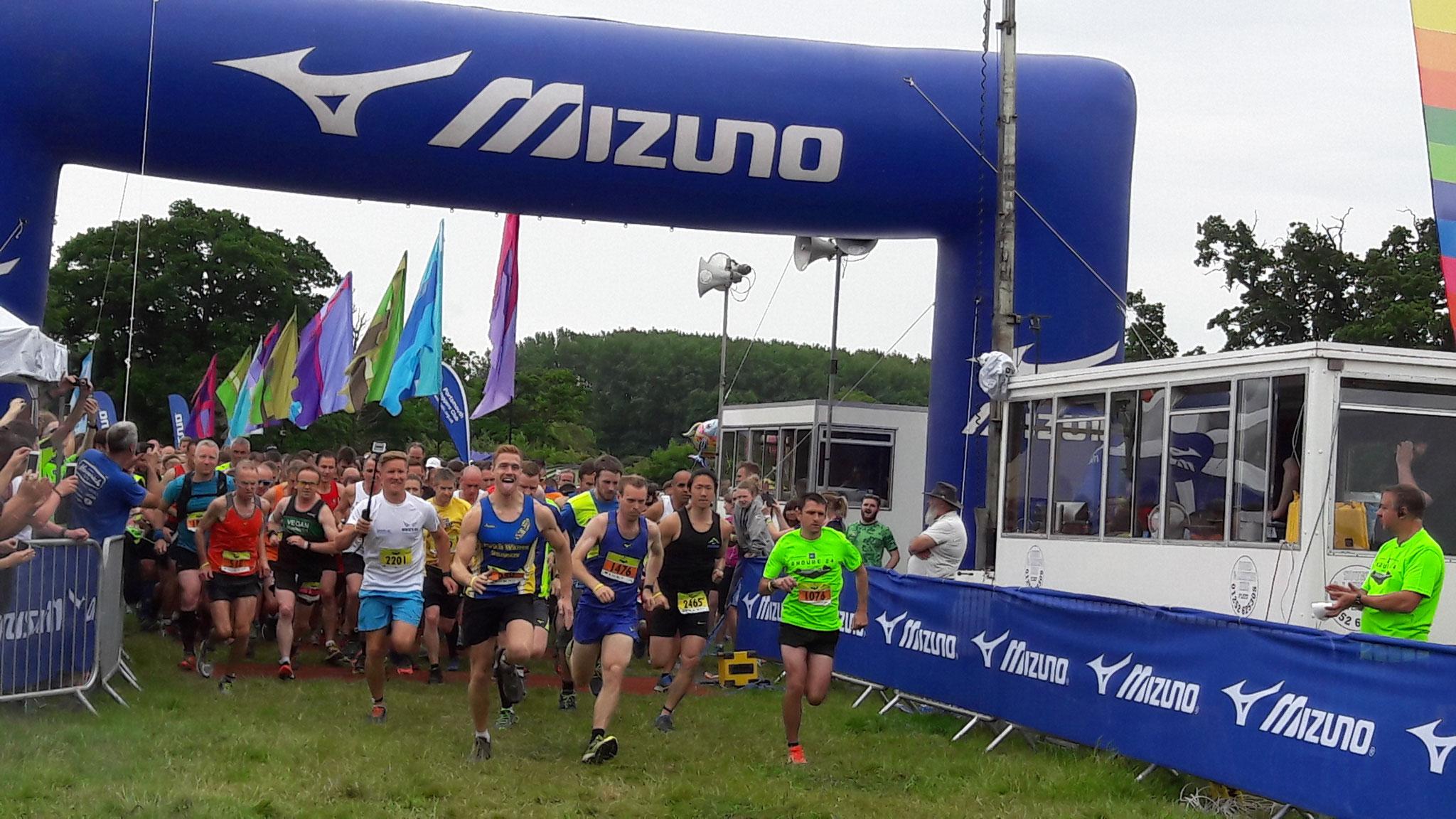 Start zum 15 km Lauf