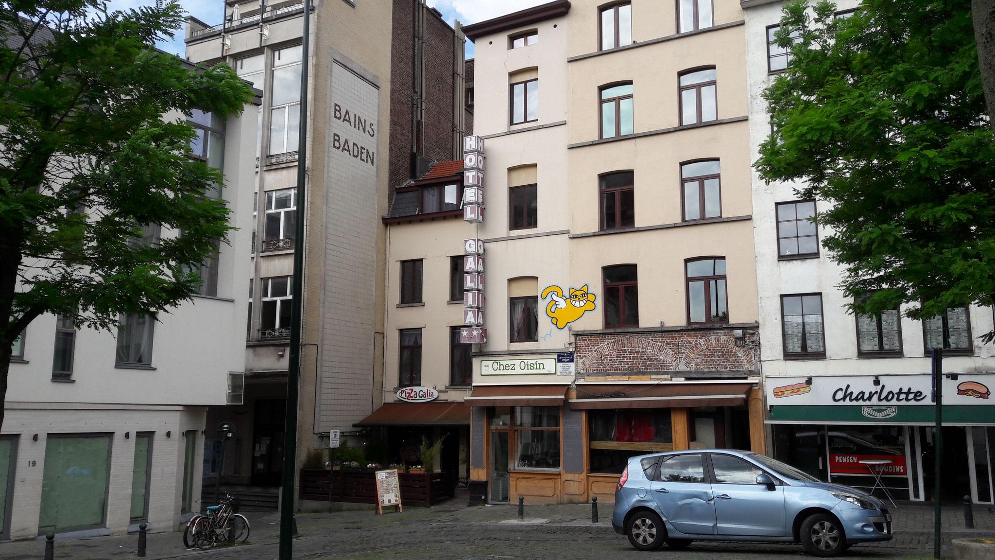 Mein Hostel im sogenannten Künstlerviertel, fast im Zentrum