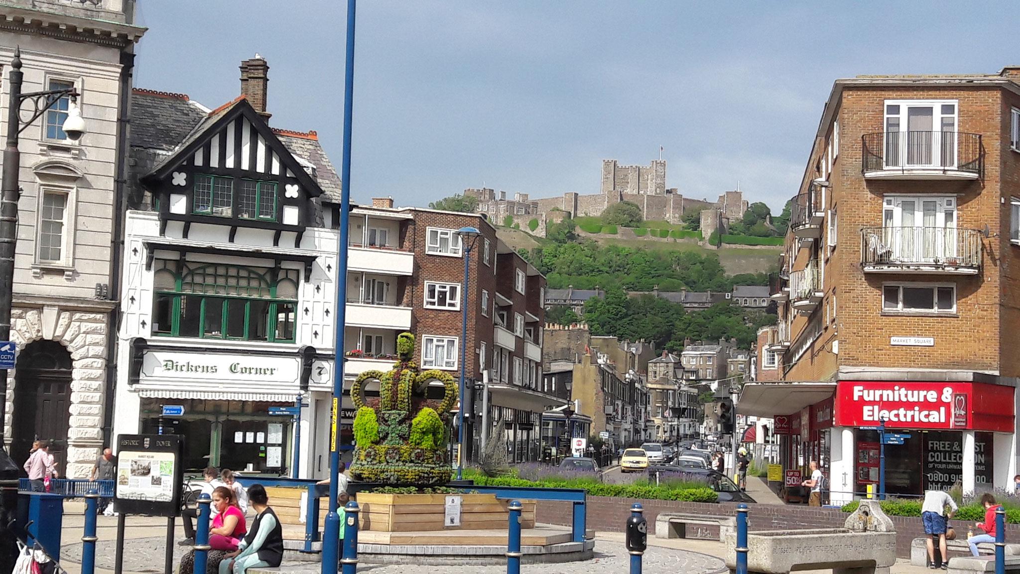 im Zentrum von Dover, die  Stadt selber ist nicht sehr interessant