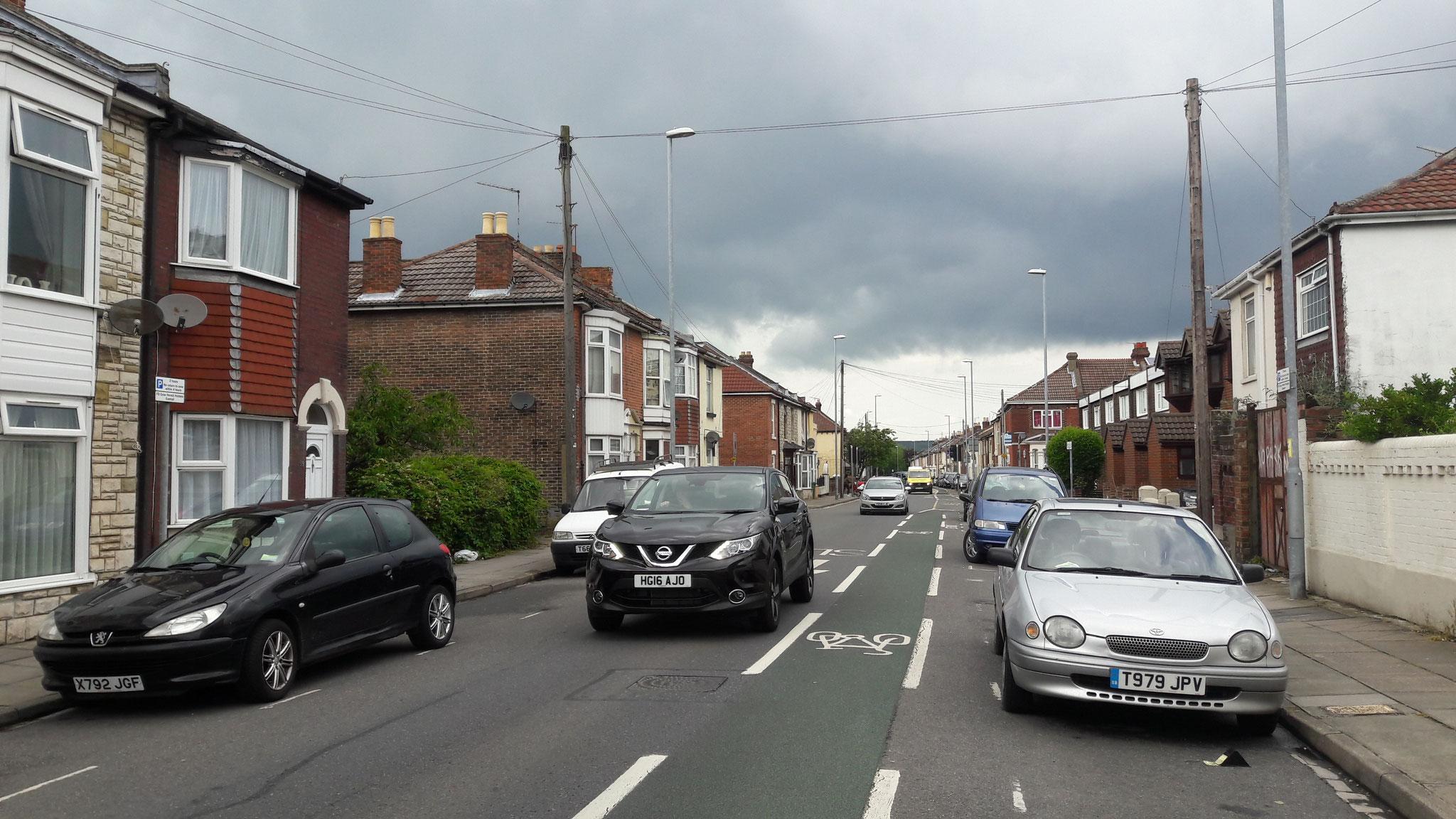 Nebenstraße in Portsmouth