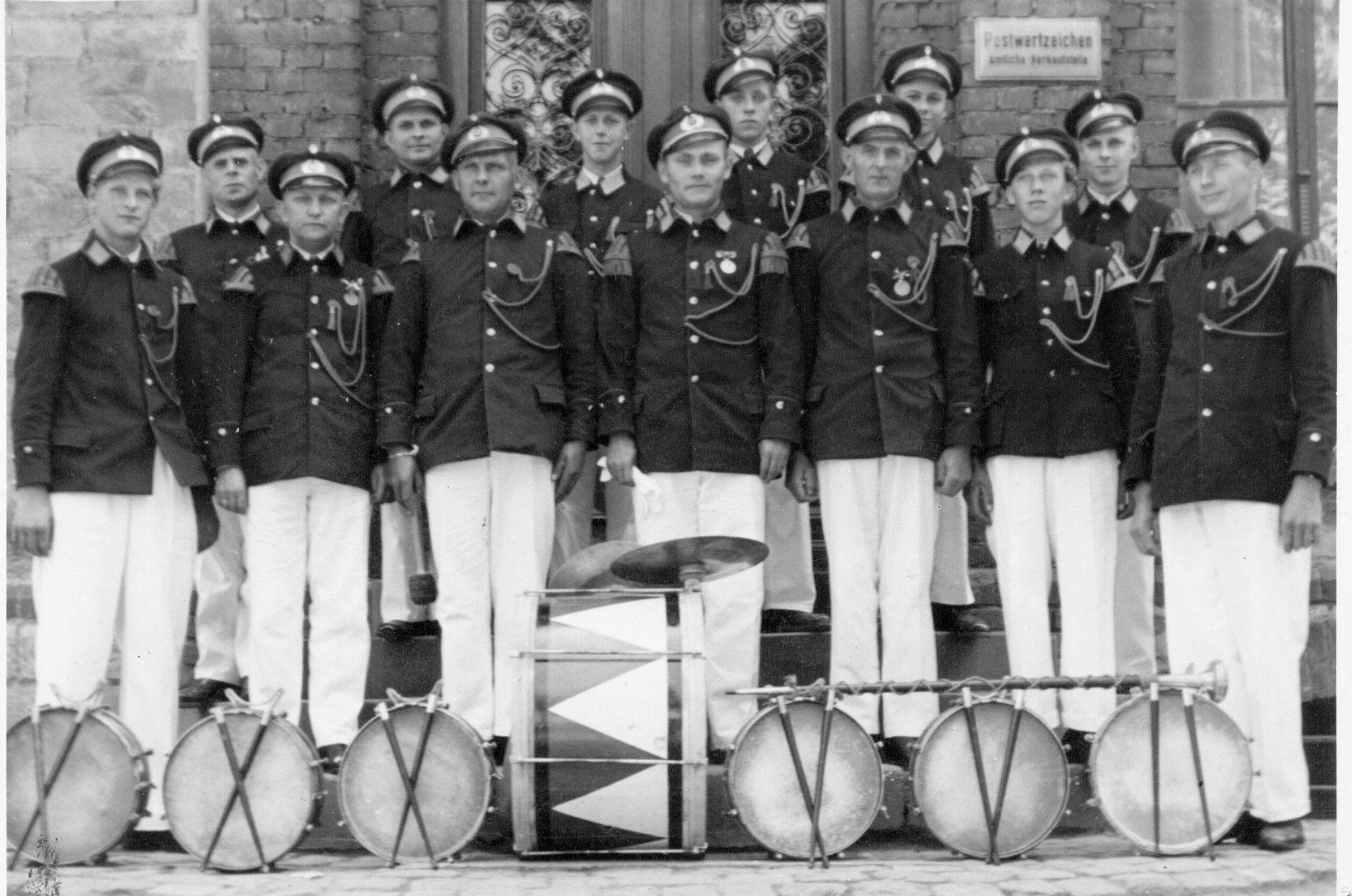 Tambourcorps Einigkeit in den 60er Jahre