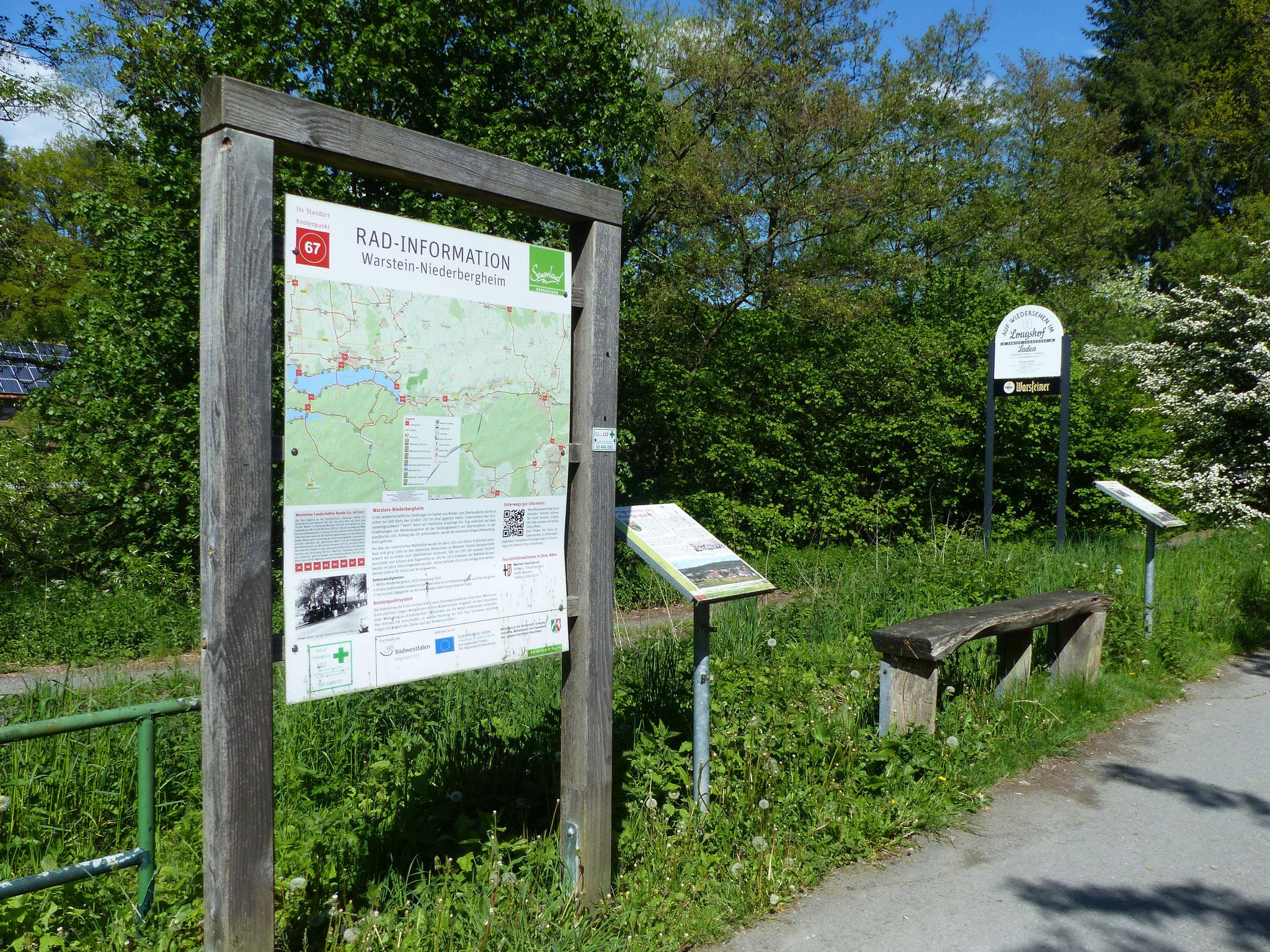 Infotafeln am Möhnetalradweg