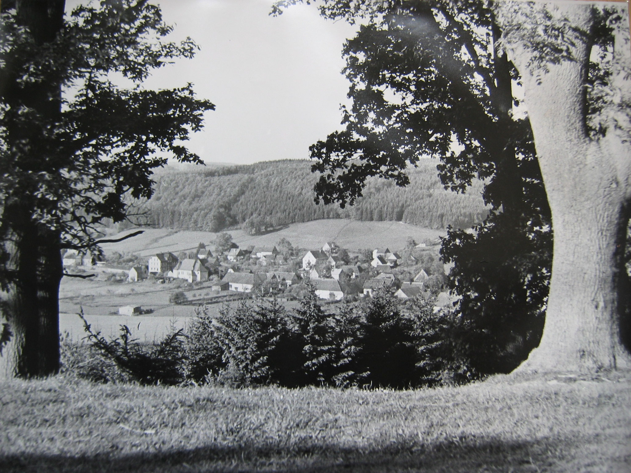 Niederbergheim aus Richtung Westen in den 60er Jahren