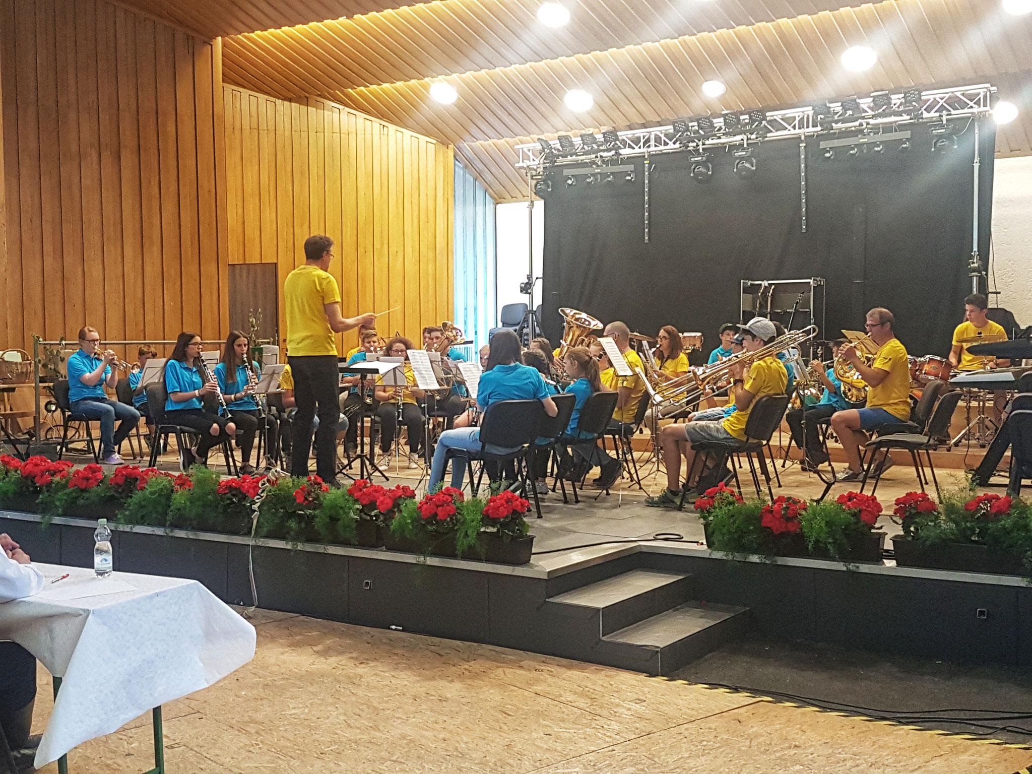 Jugendorchester Gries/Obernberg beim Abend der Jugend in Fulpmes 2018