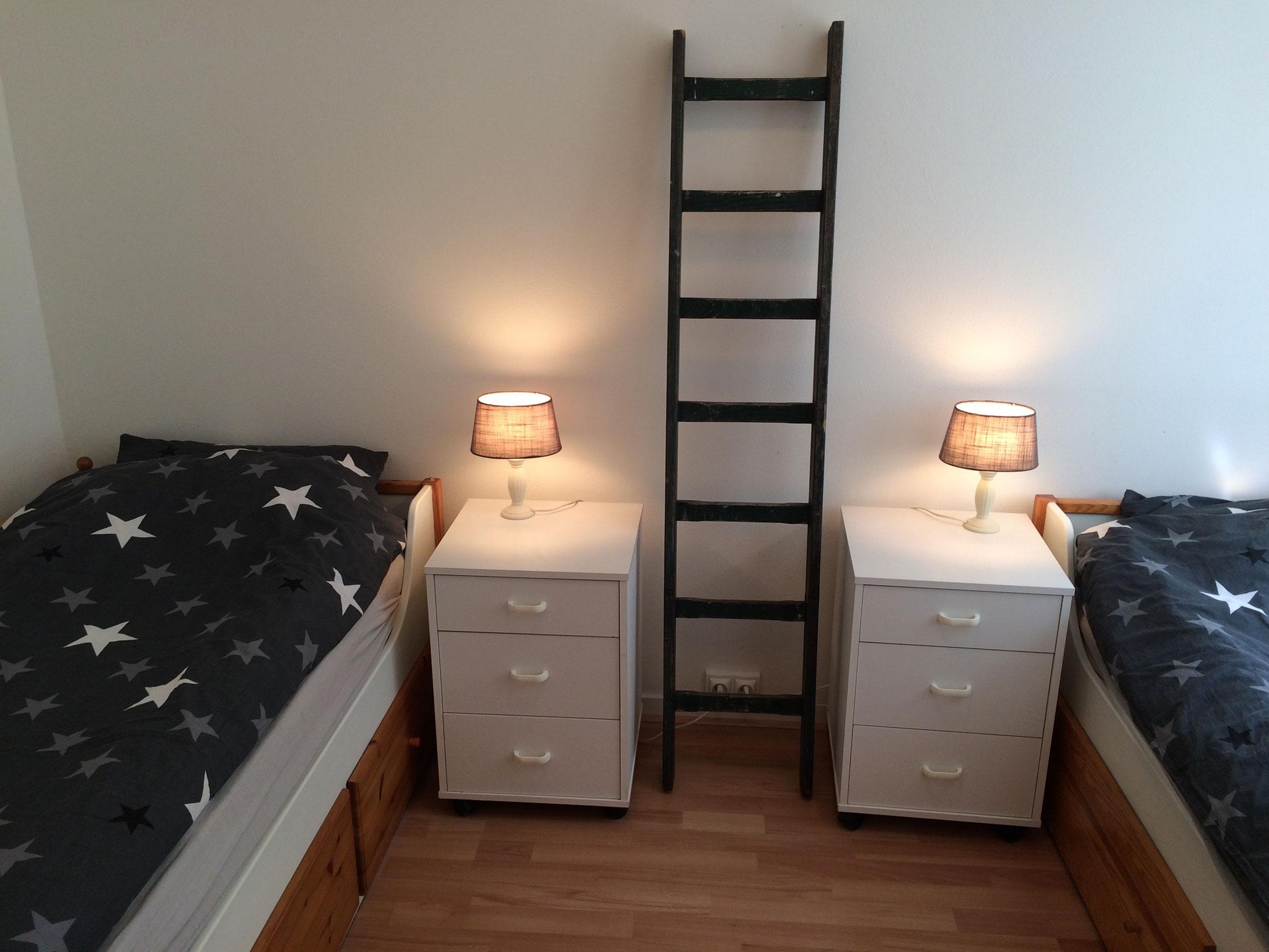 Slaapkamer 3: 2 losse bedden