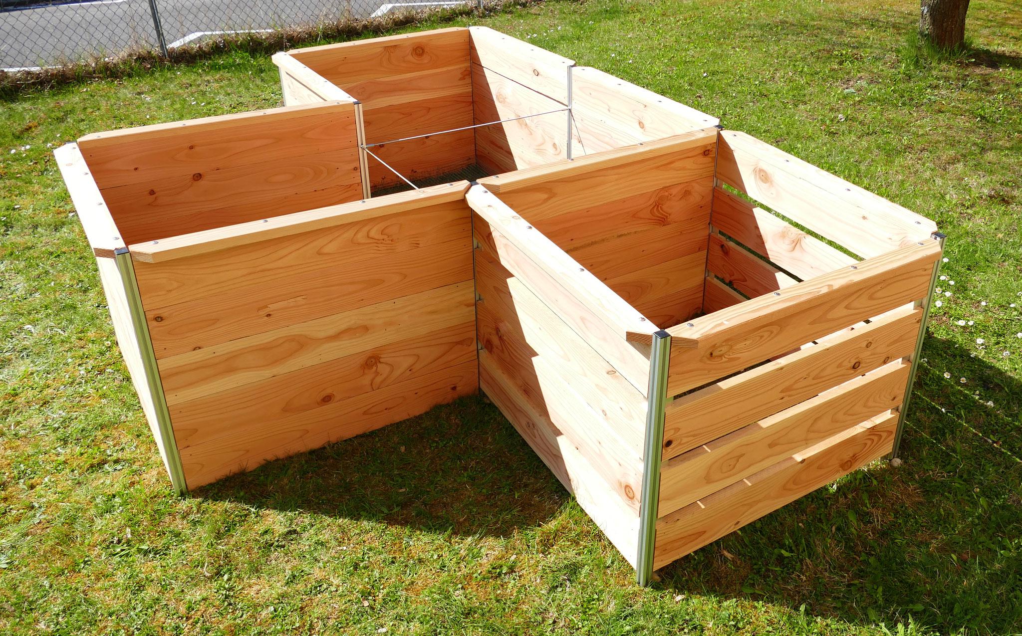 Modul TRIO mit Komposter